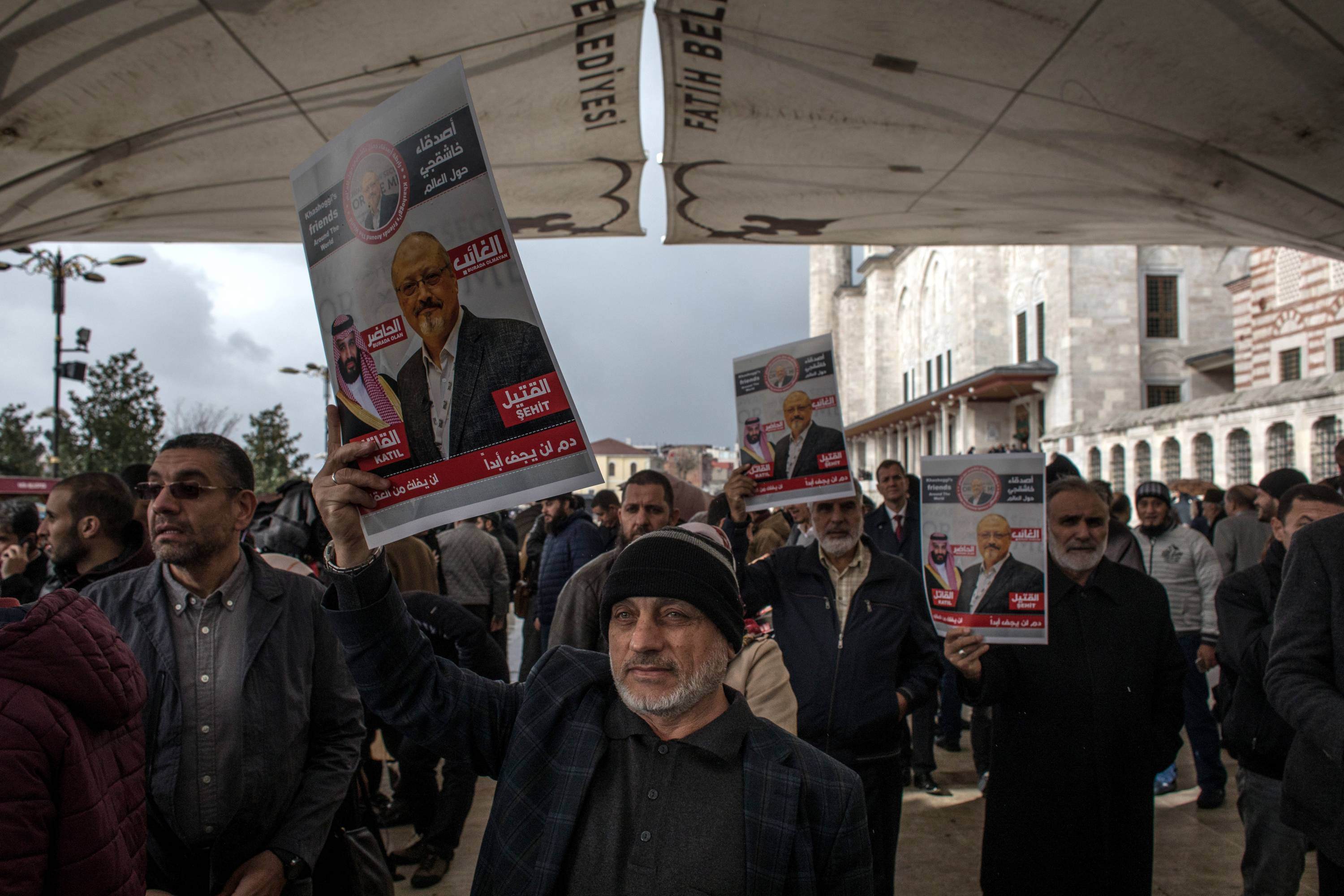 Khashoggi Mourners Hold Absentee Funeral in Istanbul