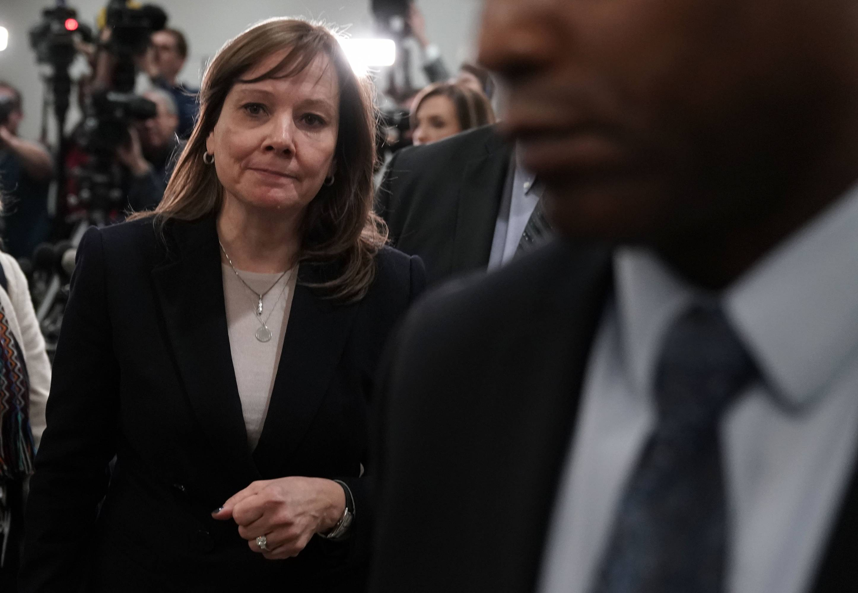 GM CEO Mary Barra Meets With Michigan Lawmakers On Capitol Hill