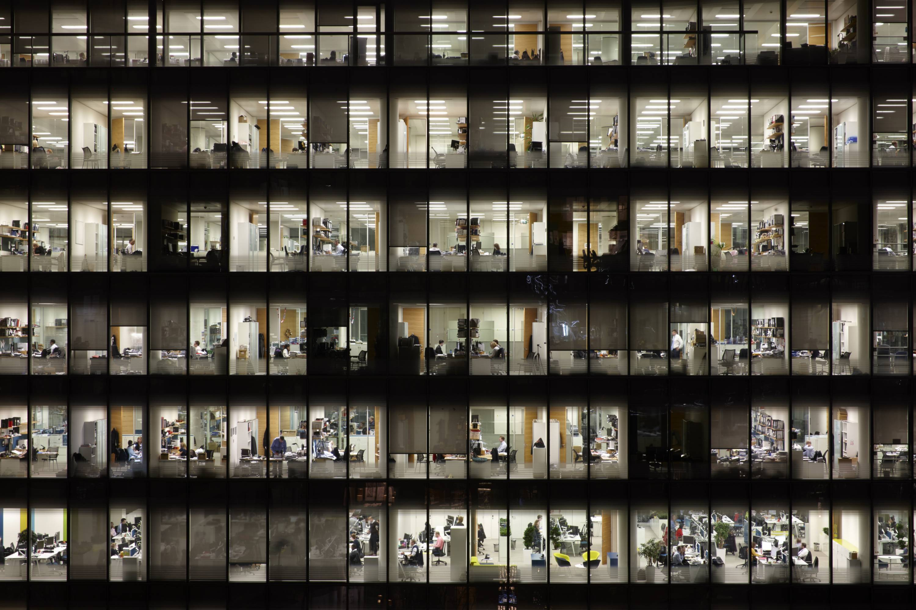 People working in Office building. Lonon, England