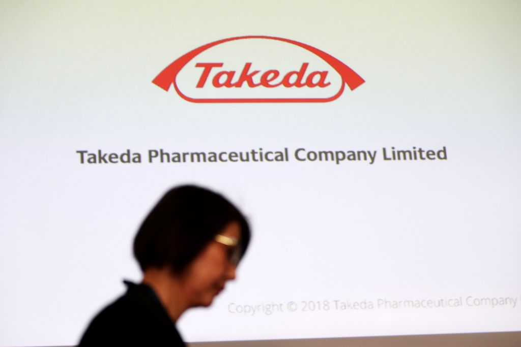 JAPAN-IRELAND-PHARMACEUTICAL-TAKEOVER-TAKEDA-SHIRE