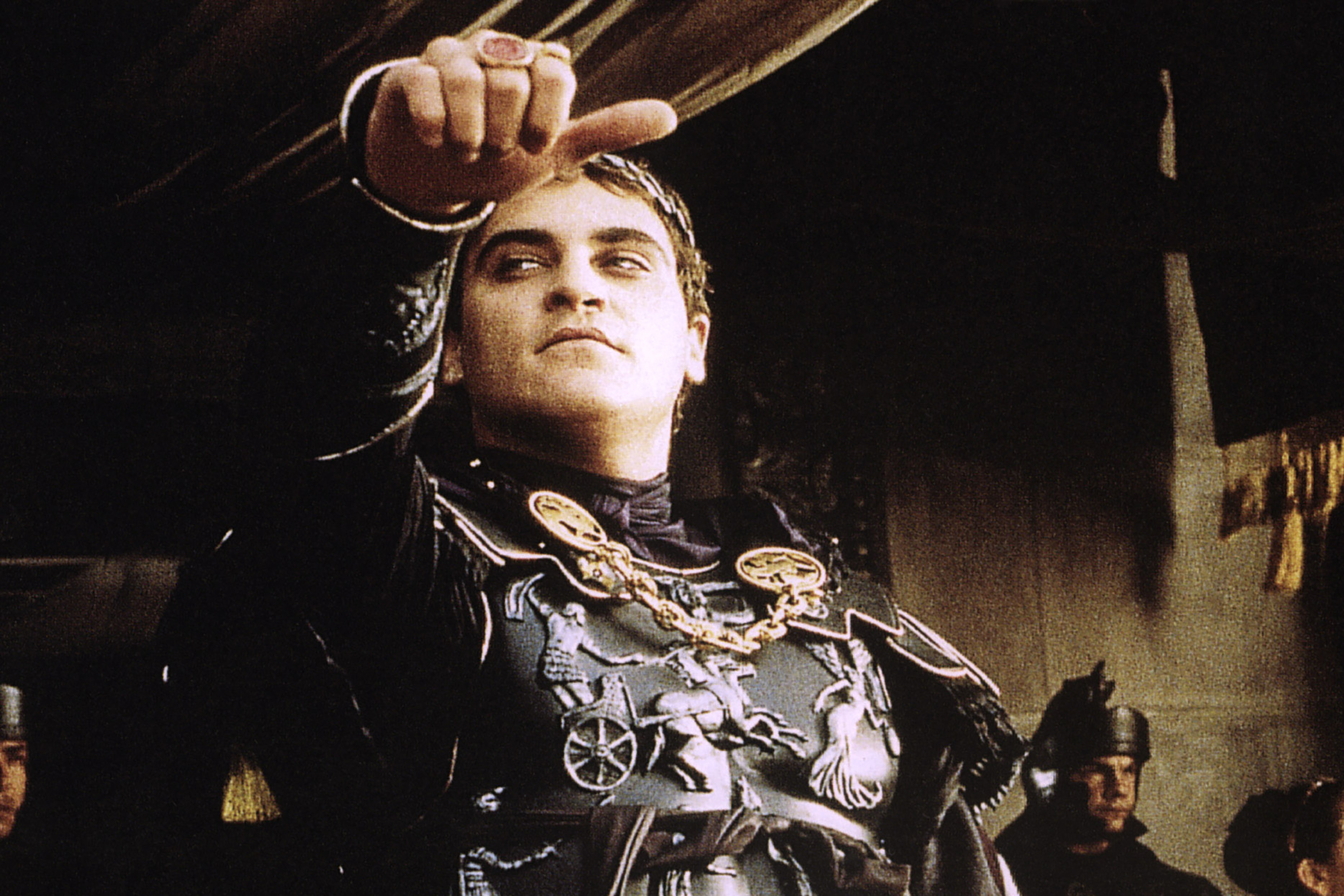 Emperor Commodus, as portrayed by Joaquin Phoenix in the film Gladiator.