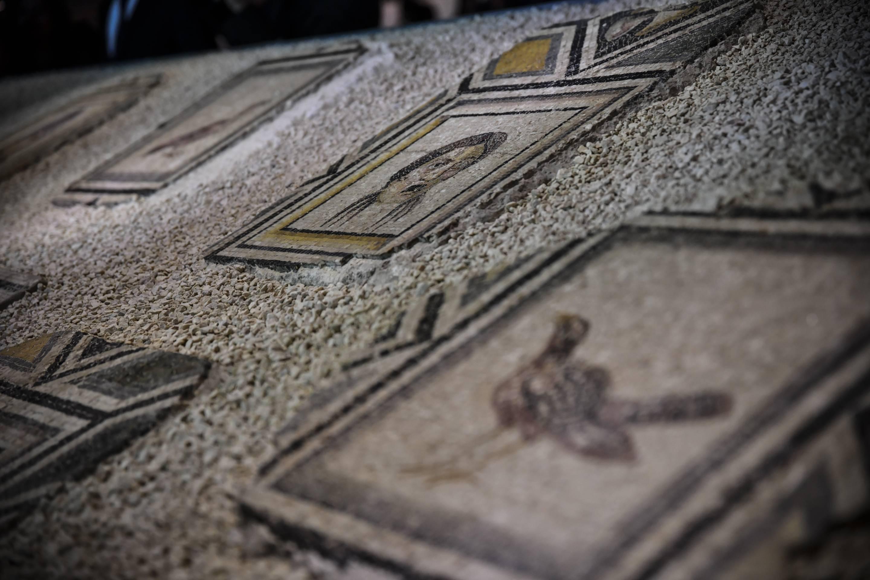 Public Exhibit of Gypsy Girl Mosaic in Gaziantep