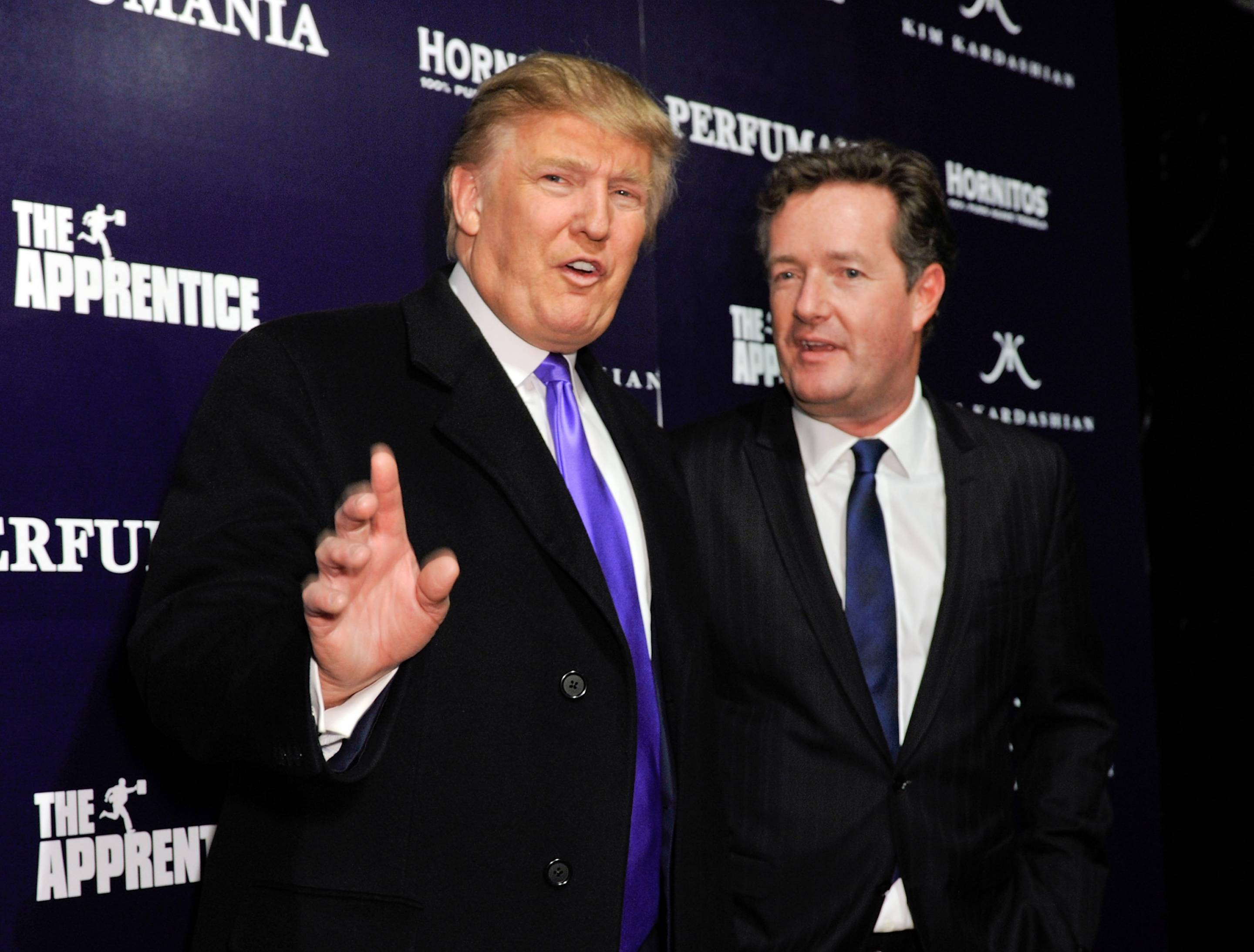 President Donald Trump and Piers Morgan.
