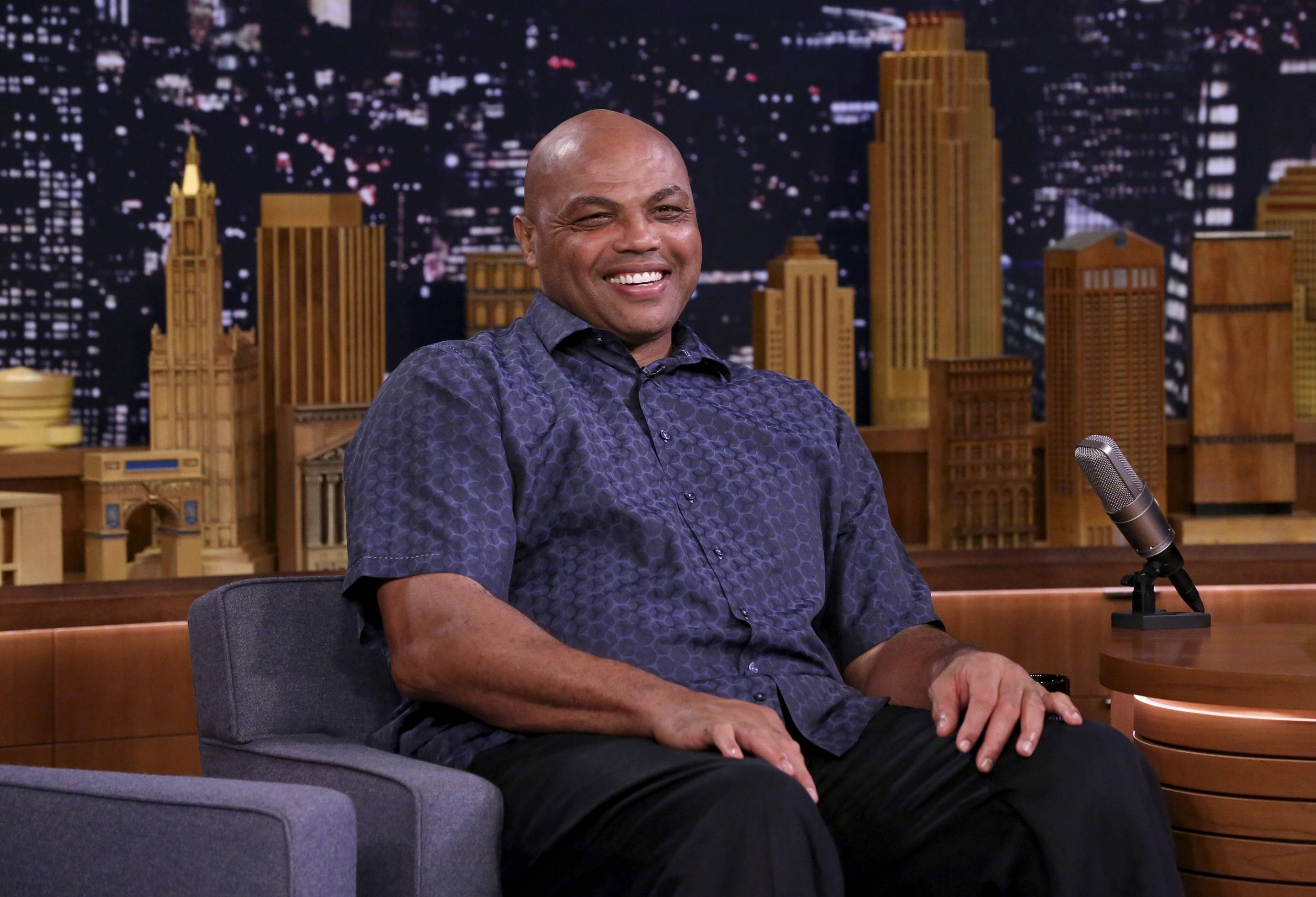 Pictured: Charles Barkley during an interview on October 11, 2018