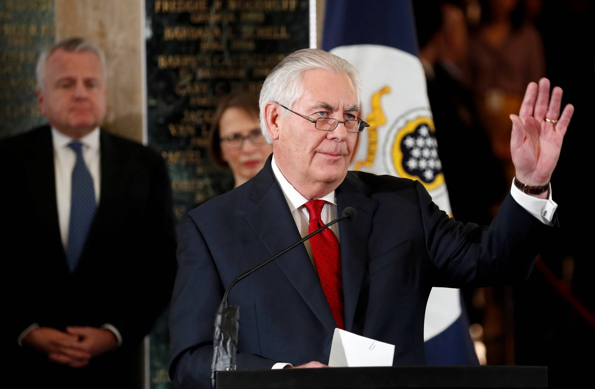 Rex Tillerson departs the State Department in Washington