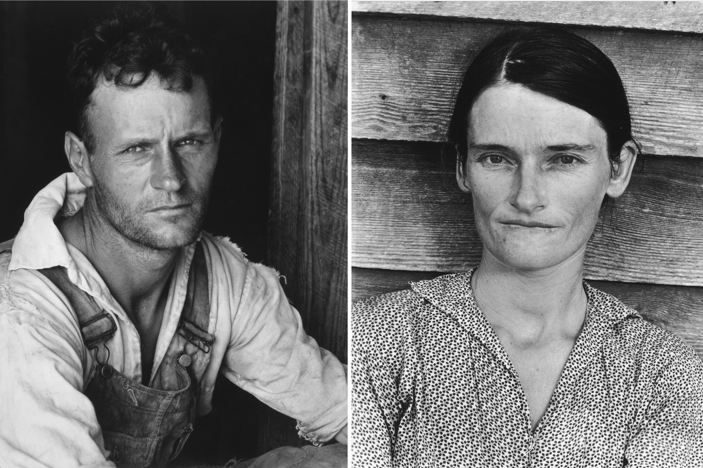 FLOYD AND ALLIE MAE BURROUGHS These Walker Evans portraits are among the most durable images of the Depression. Taken for FORTUNE in the summer of 193 6 and then, when editors killed the accompanying article, published in the book Let Us Now Praise Famous Men, they are now in the Walker Evans Archive at the Metropolitan Museum of Art.