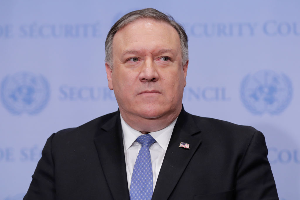 Secretary Of State Mike Pompeo Attends United Nations Security Council Meeting In Iran