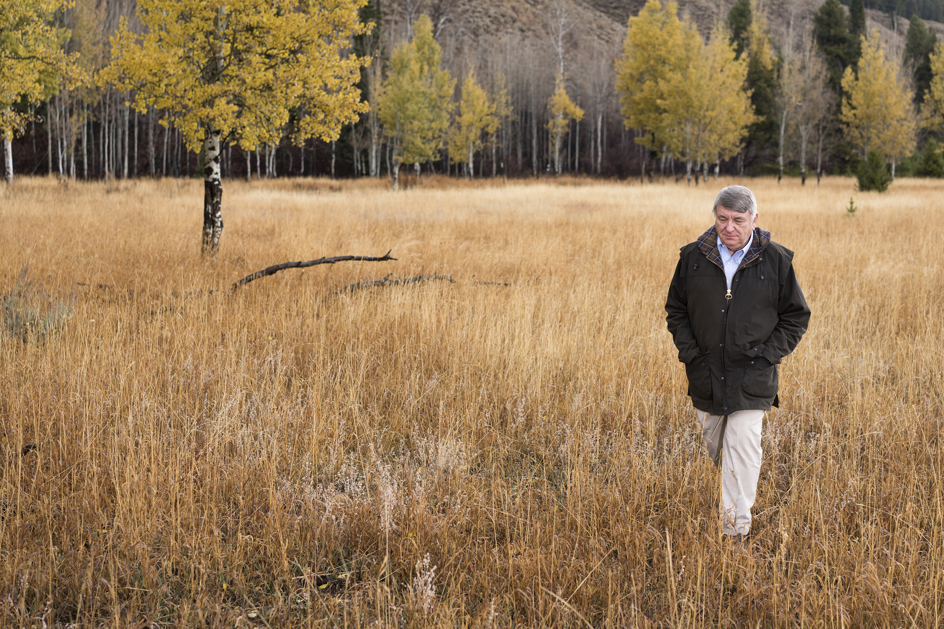 Dr. Paul Cox poses for a portrait at Grand Teton National Park near Jackson Hole, Wyoming on October 24, 2018.