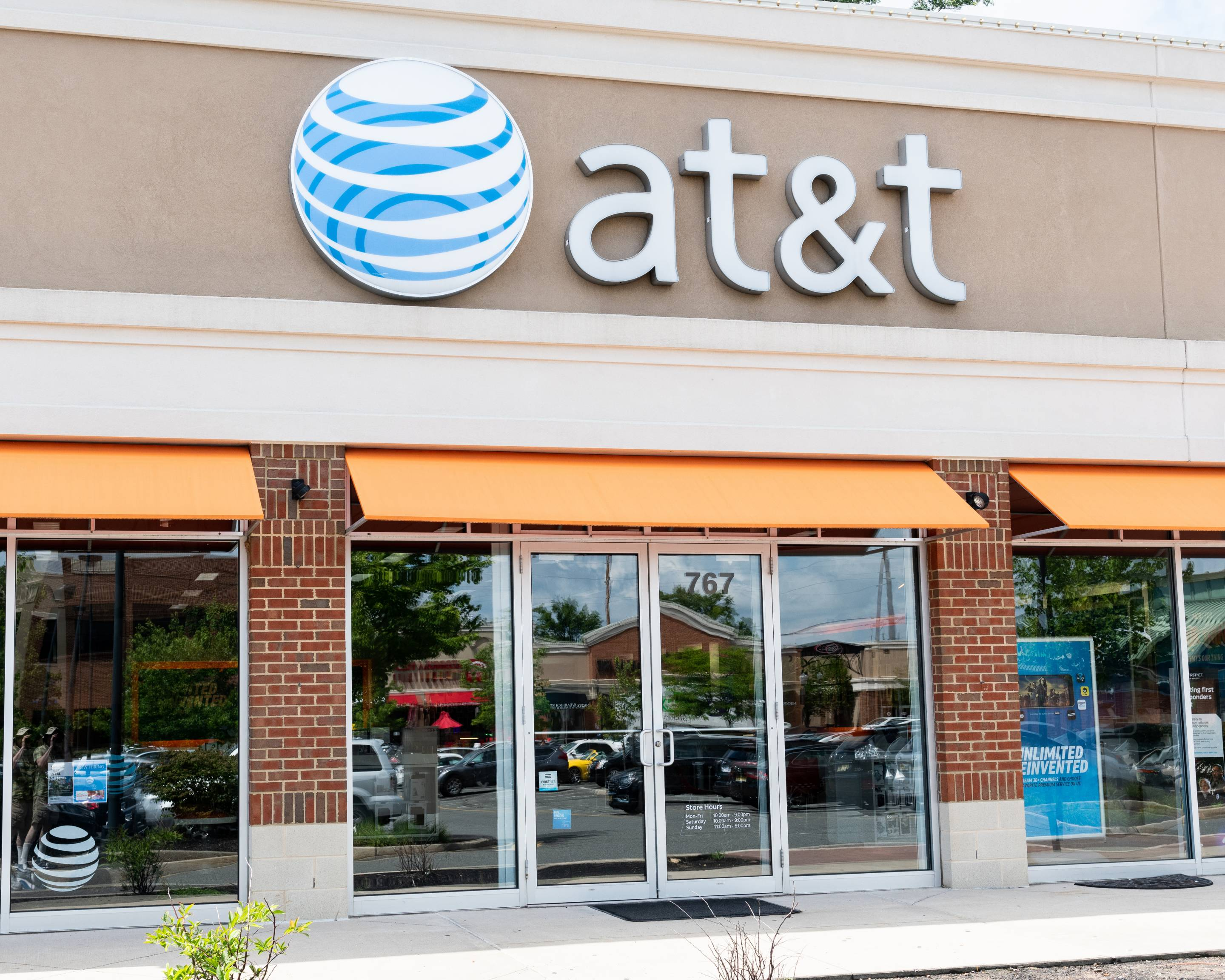 AT&T store in North Brunswick Township, New Jersey