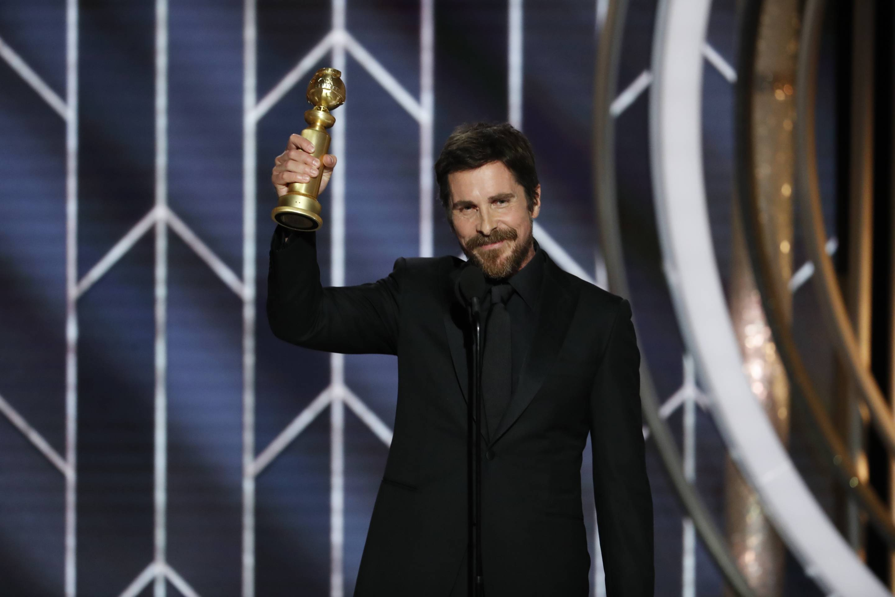 Christian Bale Accepts Best Actor Golden Globe for Vice