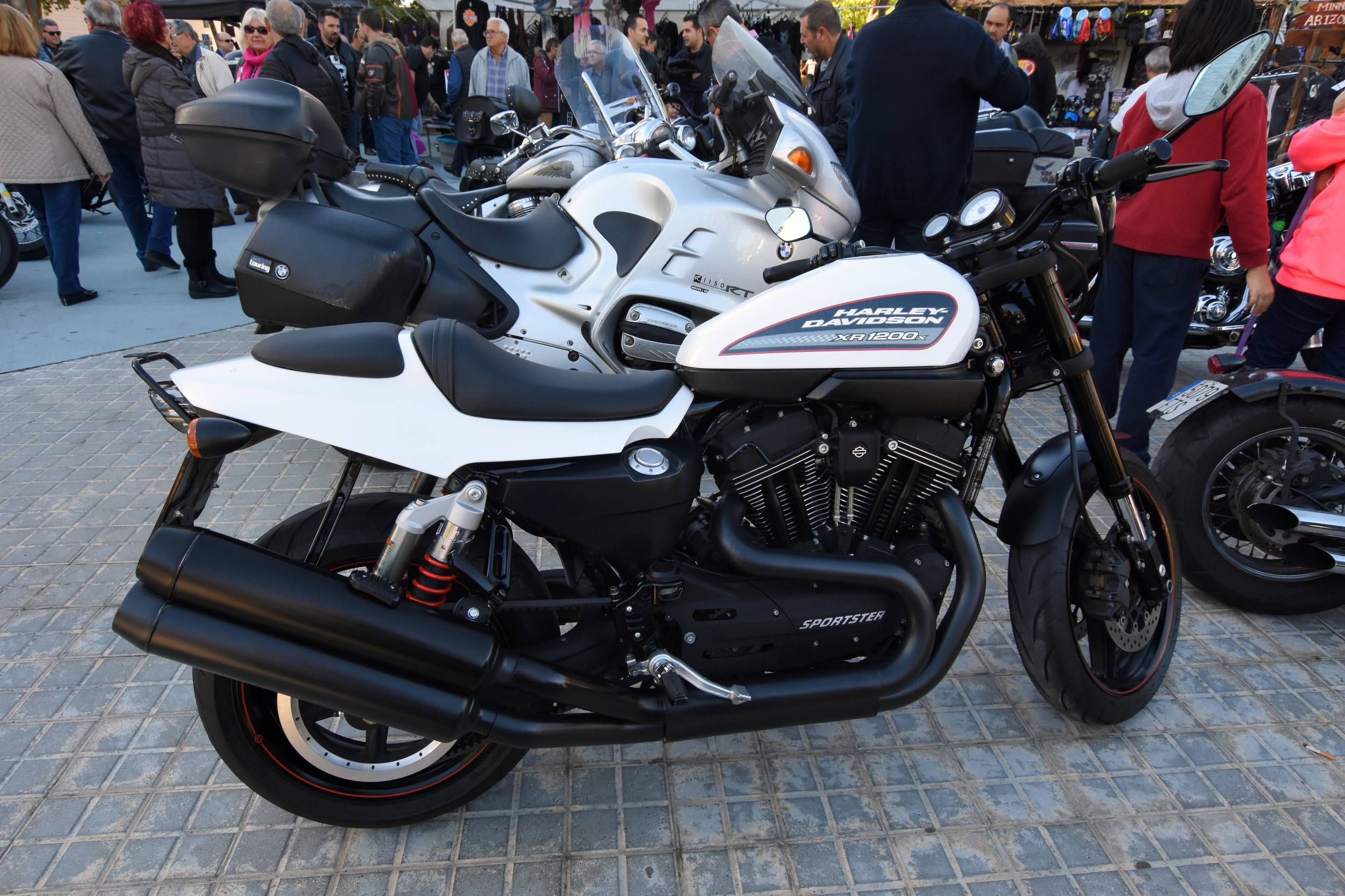 Motorcycle displays in L'Hospitalet where motorcycles of