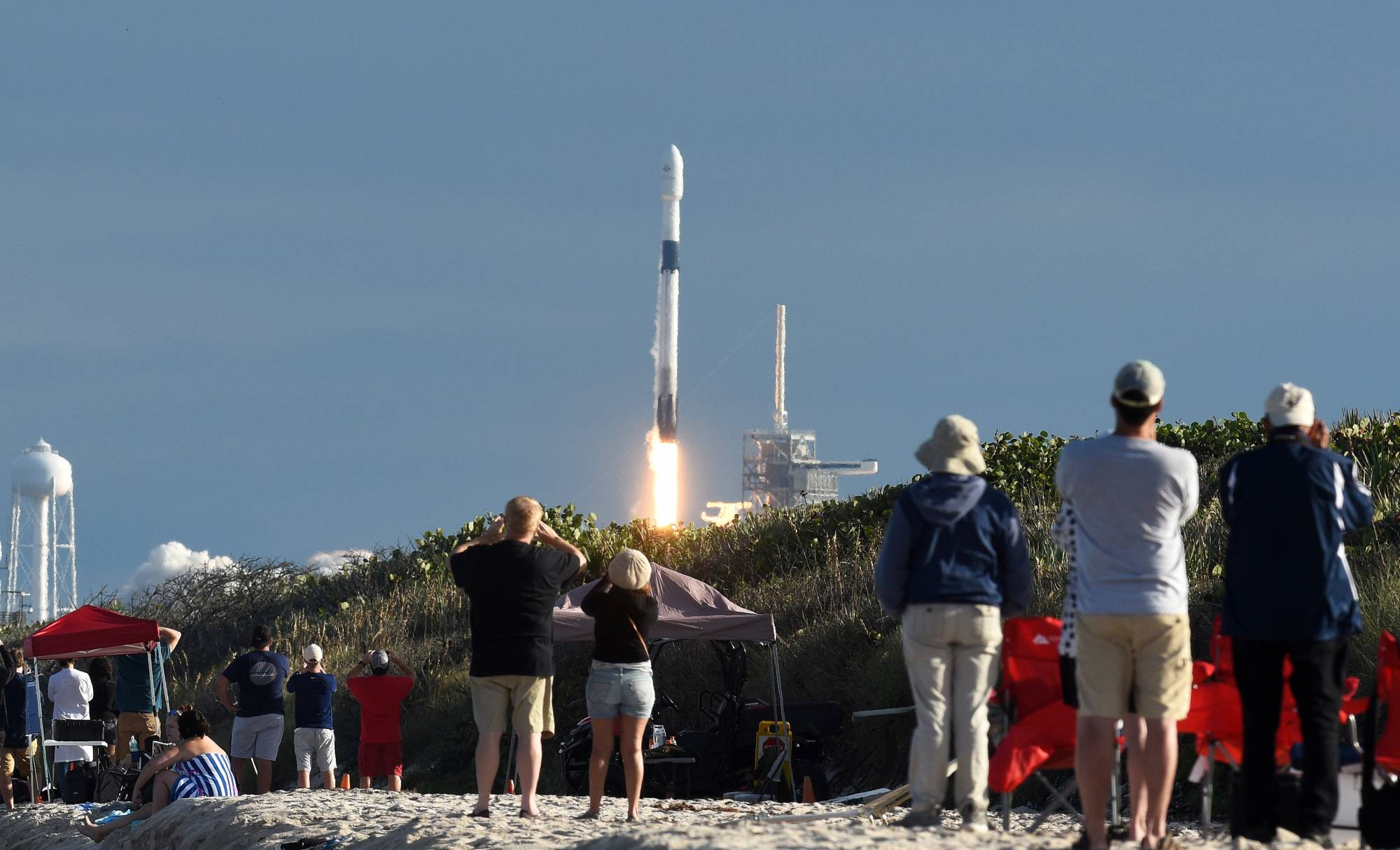 SpaceX Launches Satellite For Qatar
