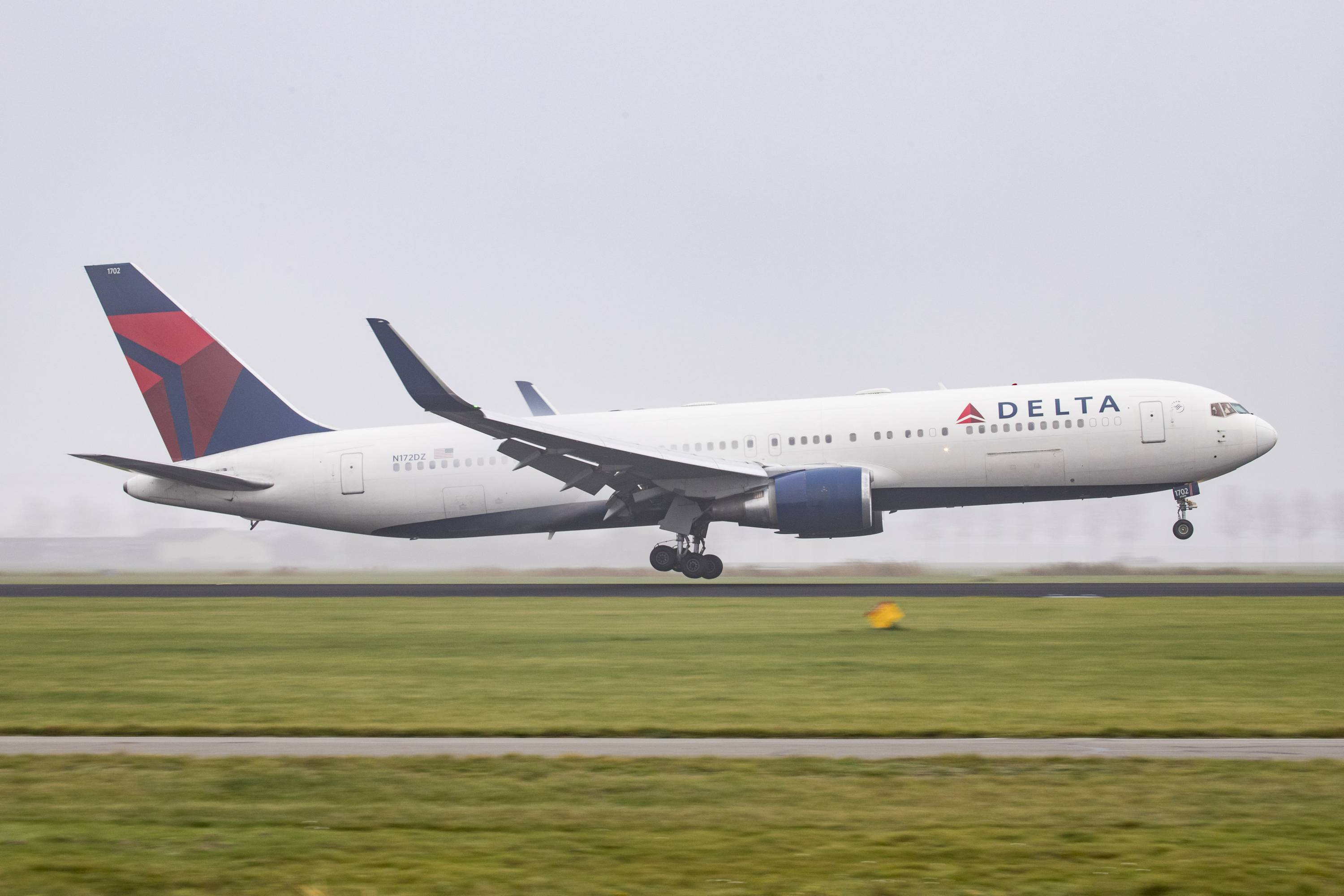 Delta Air Lines Boeing 767-300 seen landing at Amsterdam