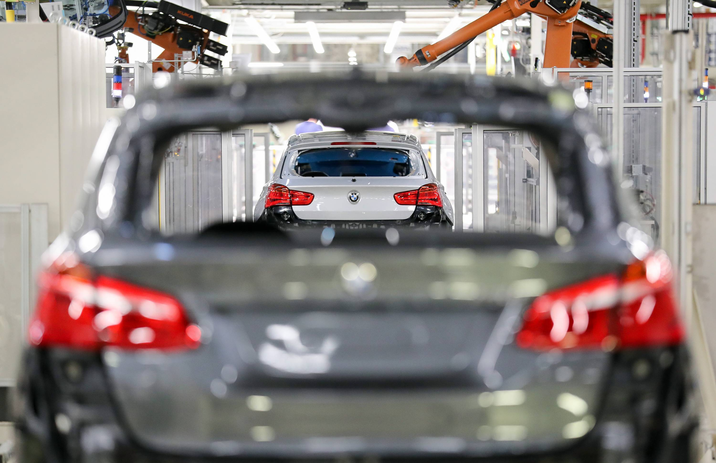 Production at the BMW plant in Leipzig