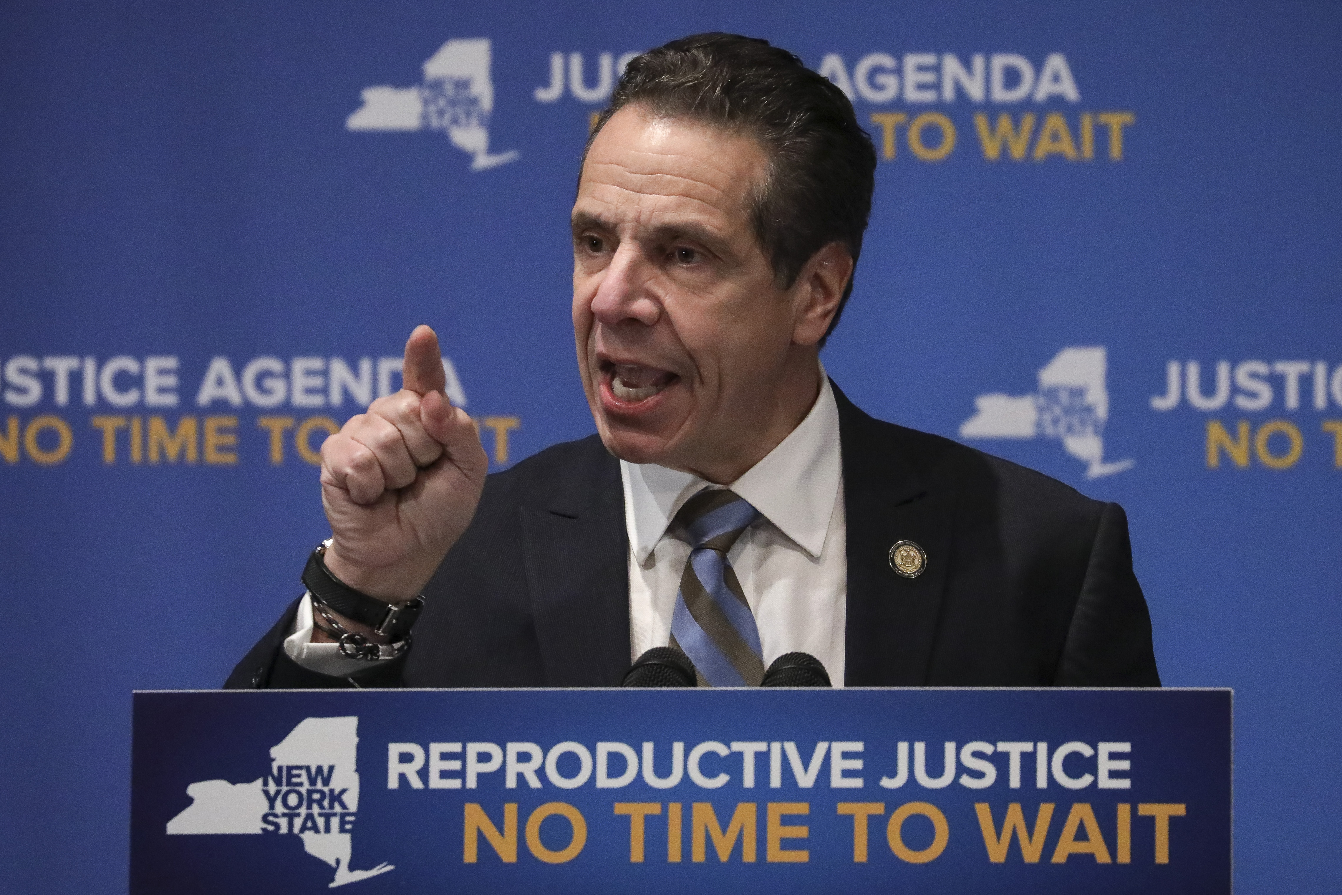 New York's Gov. Andrew Cuomo signs landmark abortion protections into law.
