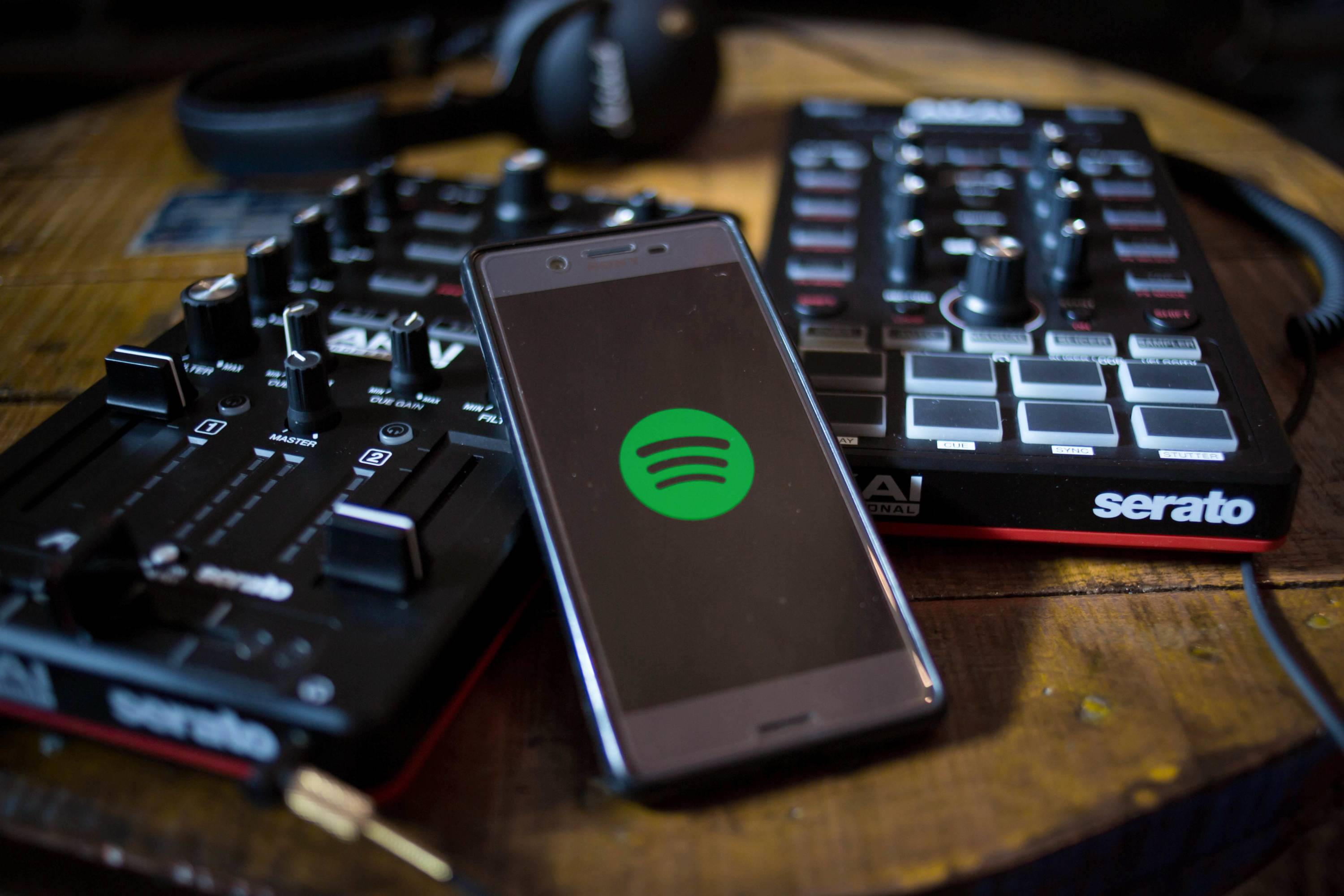 The Spotify app seen display on a Android smartphone with