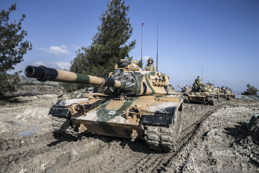 Training activities of Turkish Armed Forces near Syrian border