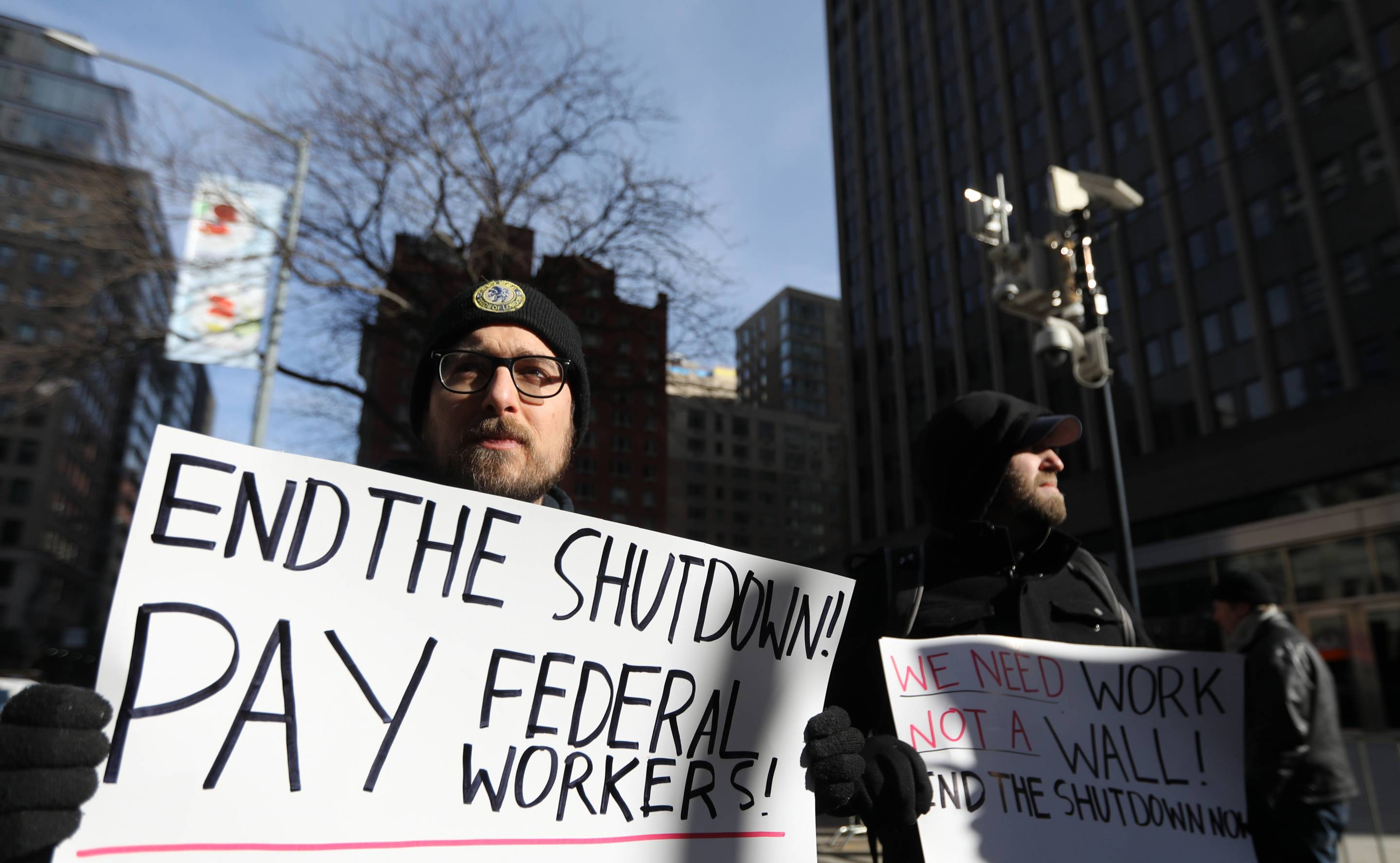 U.S.-NEW YORK-PARTIAL GOVERNMENT SHUTDOWN-PROTEST