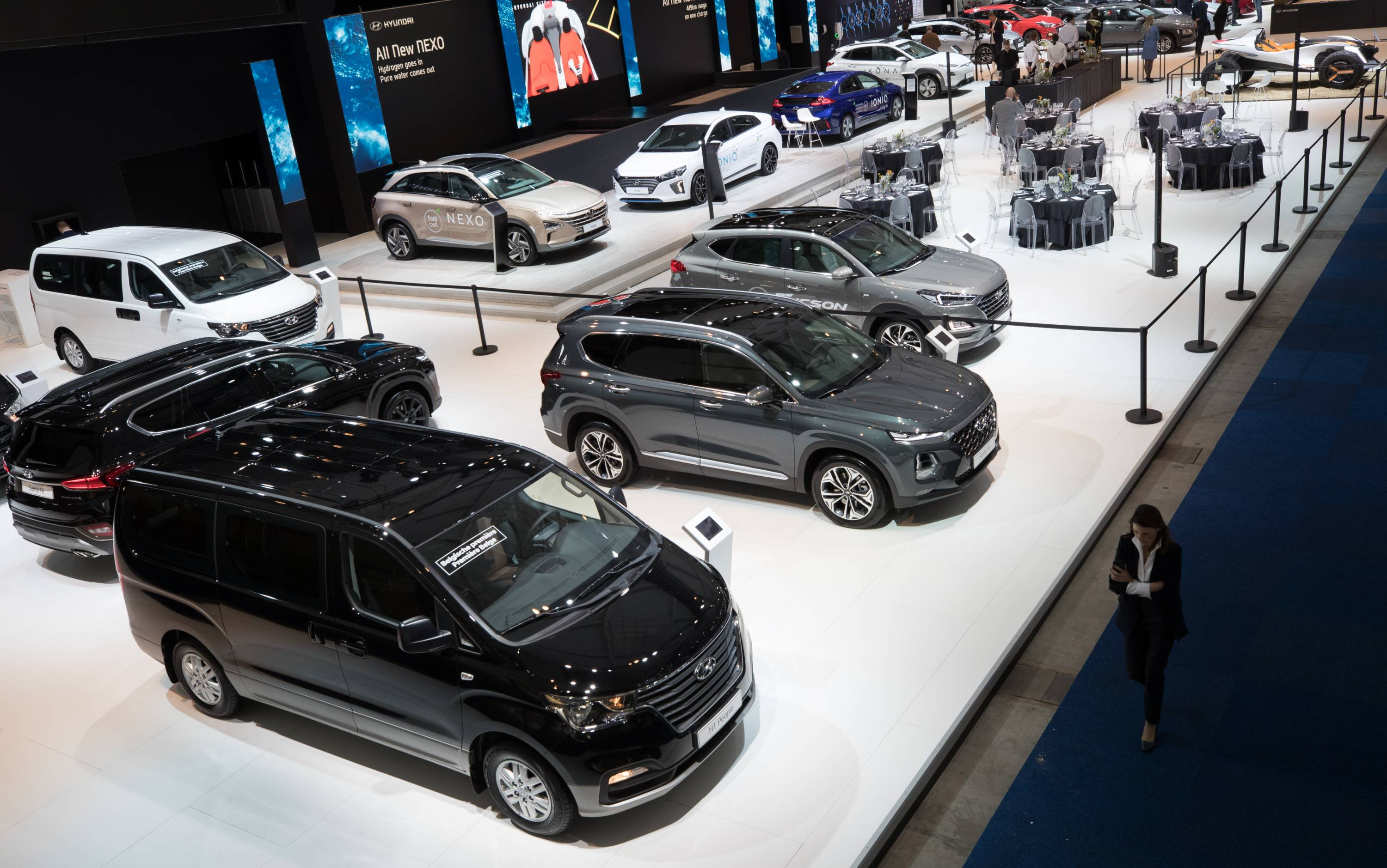 BRUSSELS 97TH MOTOR SHOW OPENING DAY