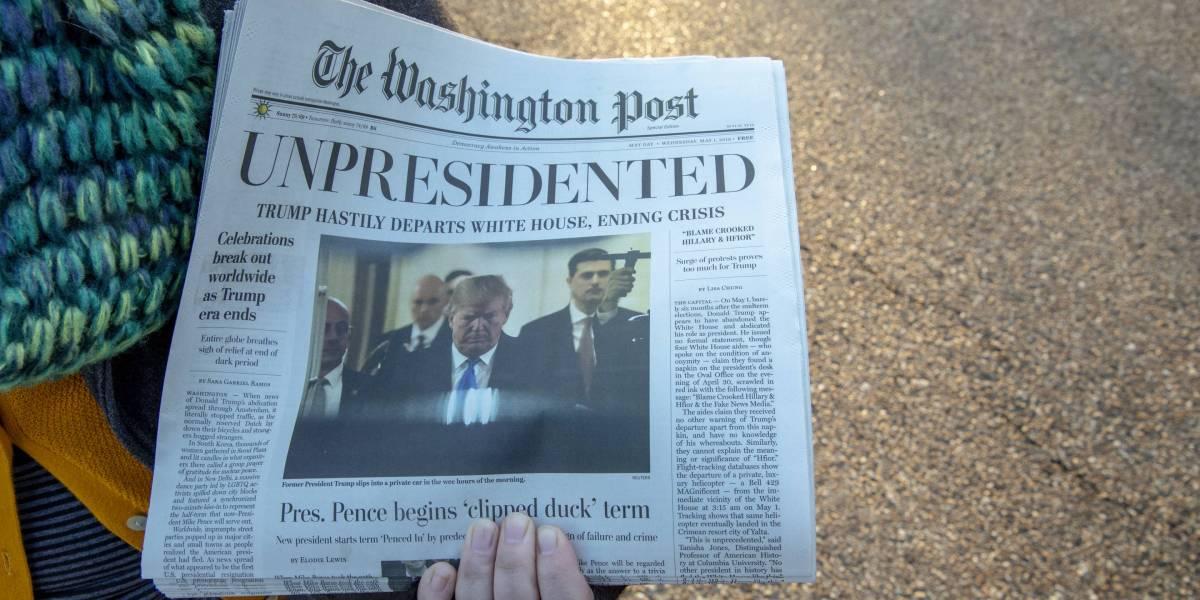 Fake Washington Post Newspapers Urge Trump Impeachment | Fortune