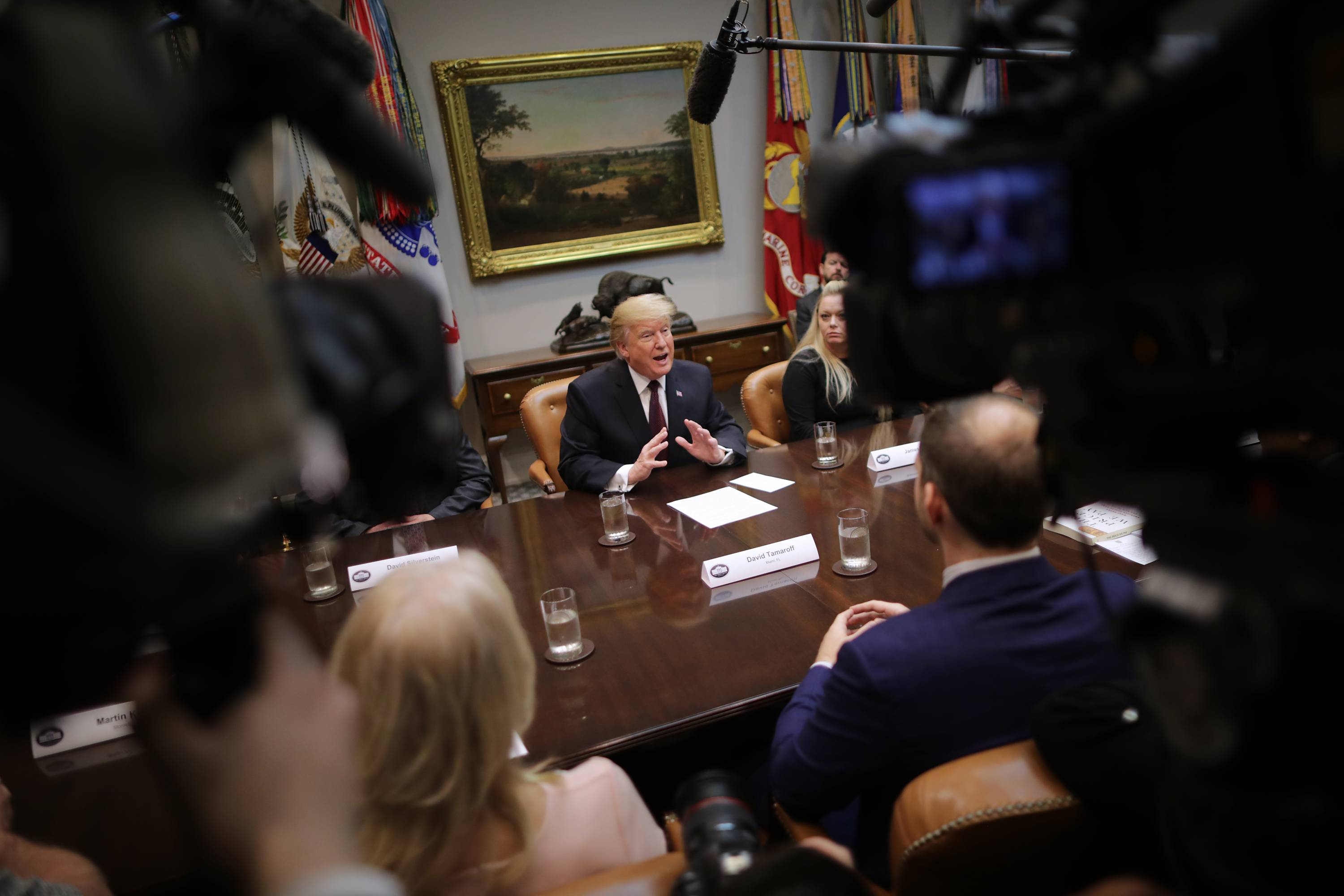 President Trump Holds Round Table On Healthcare In Roosevelt Room