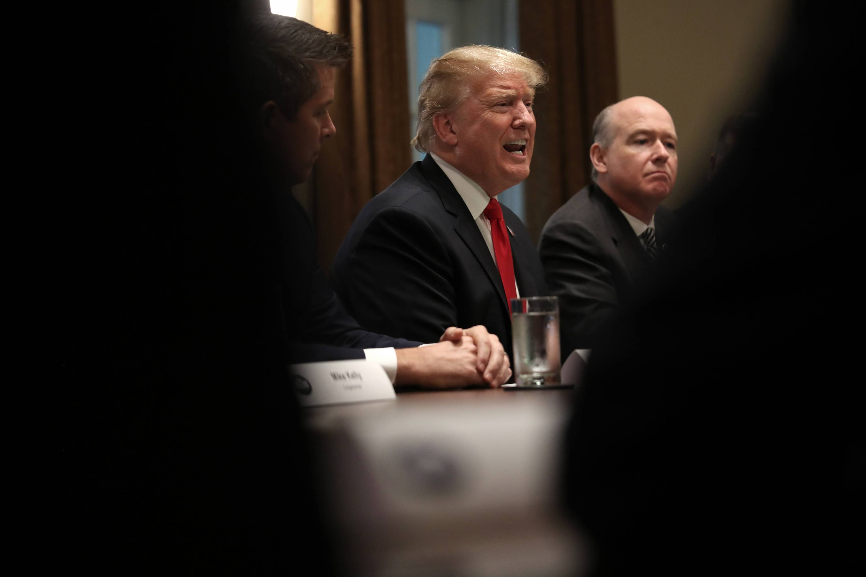 President Trump Discusses Partial Government Shutdown In Cabinet Room