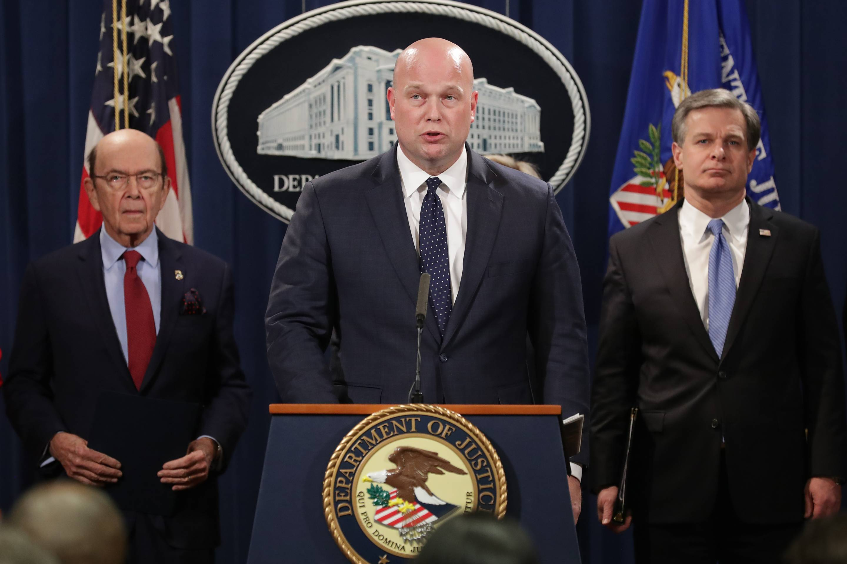 Acting Attorney General Matthew Whitaker Holds News Conference To Announce A Law Enforcement Against China