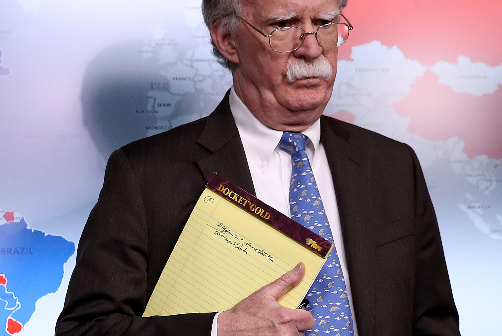 White House National Security Advisor John Bolton Holds Briefing At White House