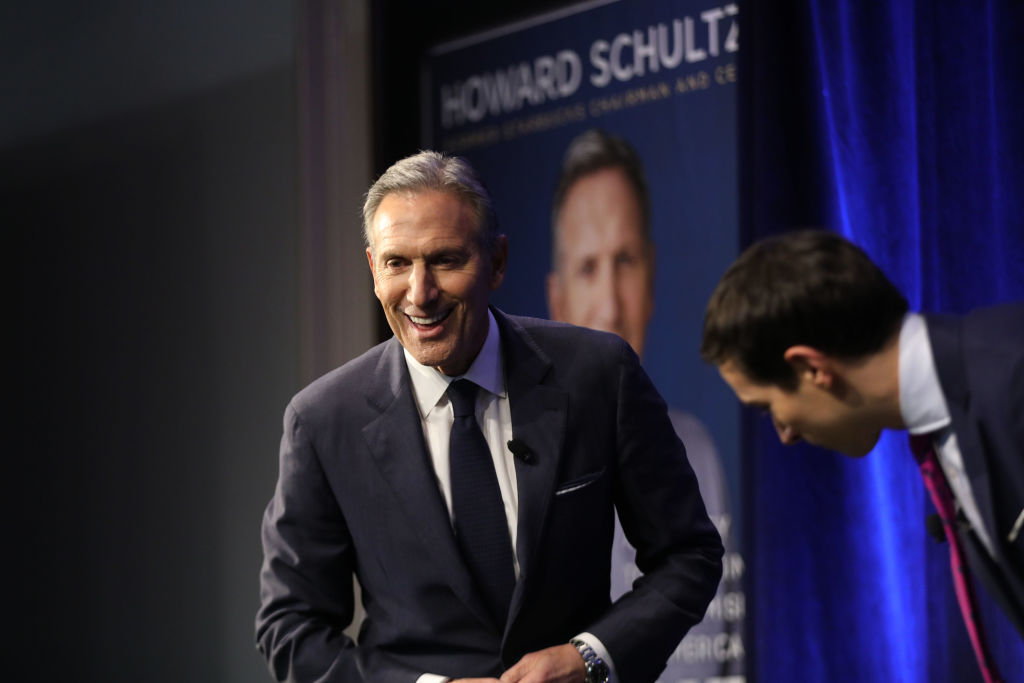 Former Starbucks CEO Howard Schultz Discusses His New Book In NYC