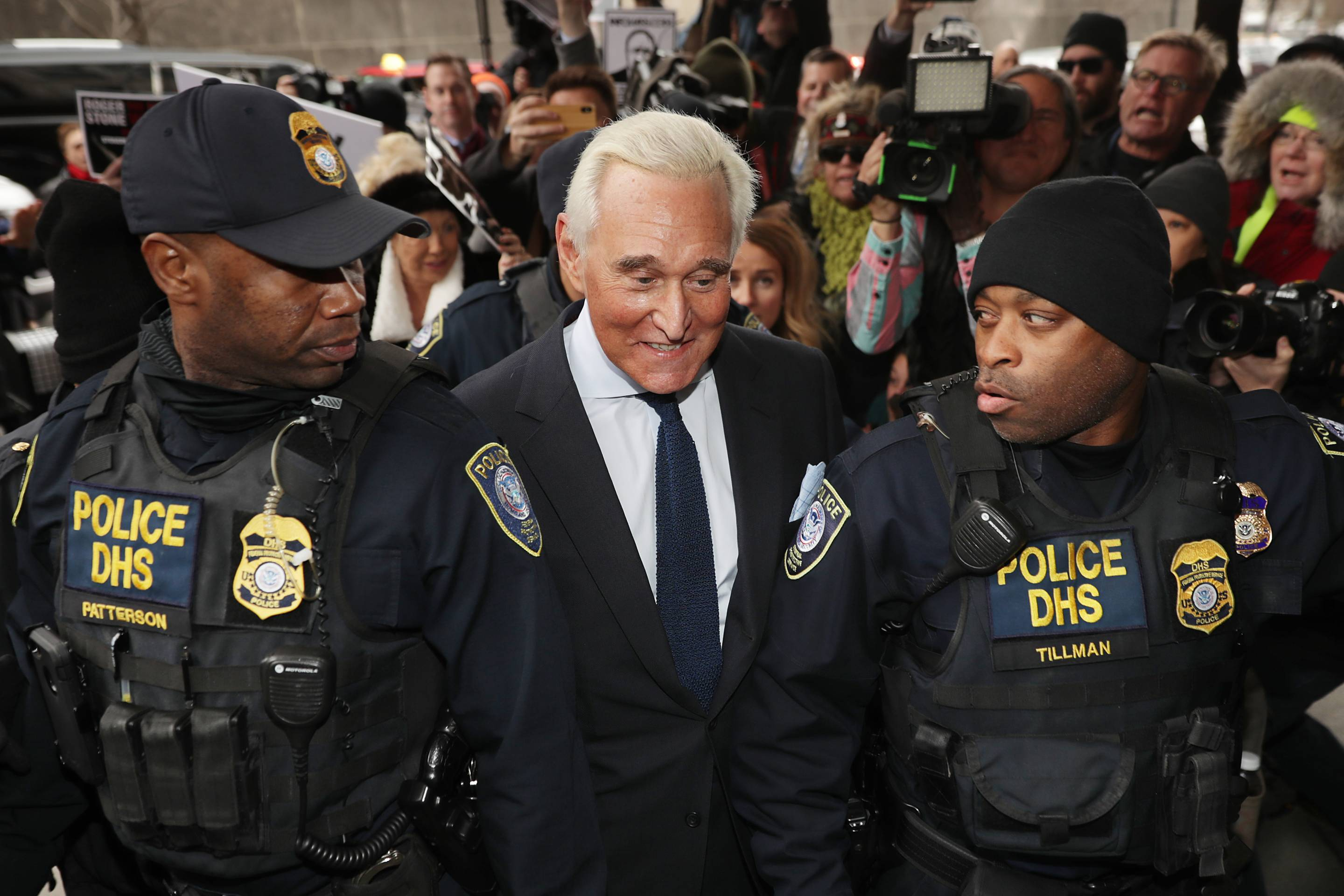 Roger Stone Arraigned On Charges Of Obstruction And Witness Tampering In Russia Investigation