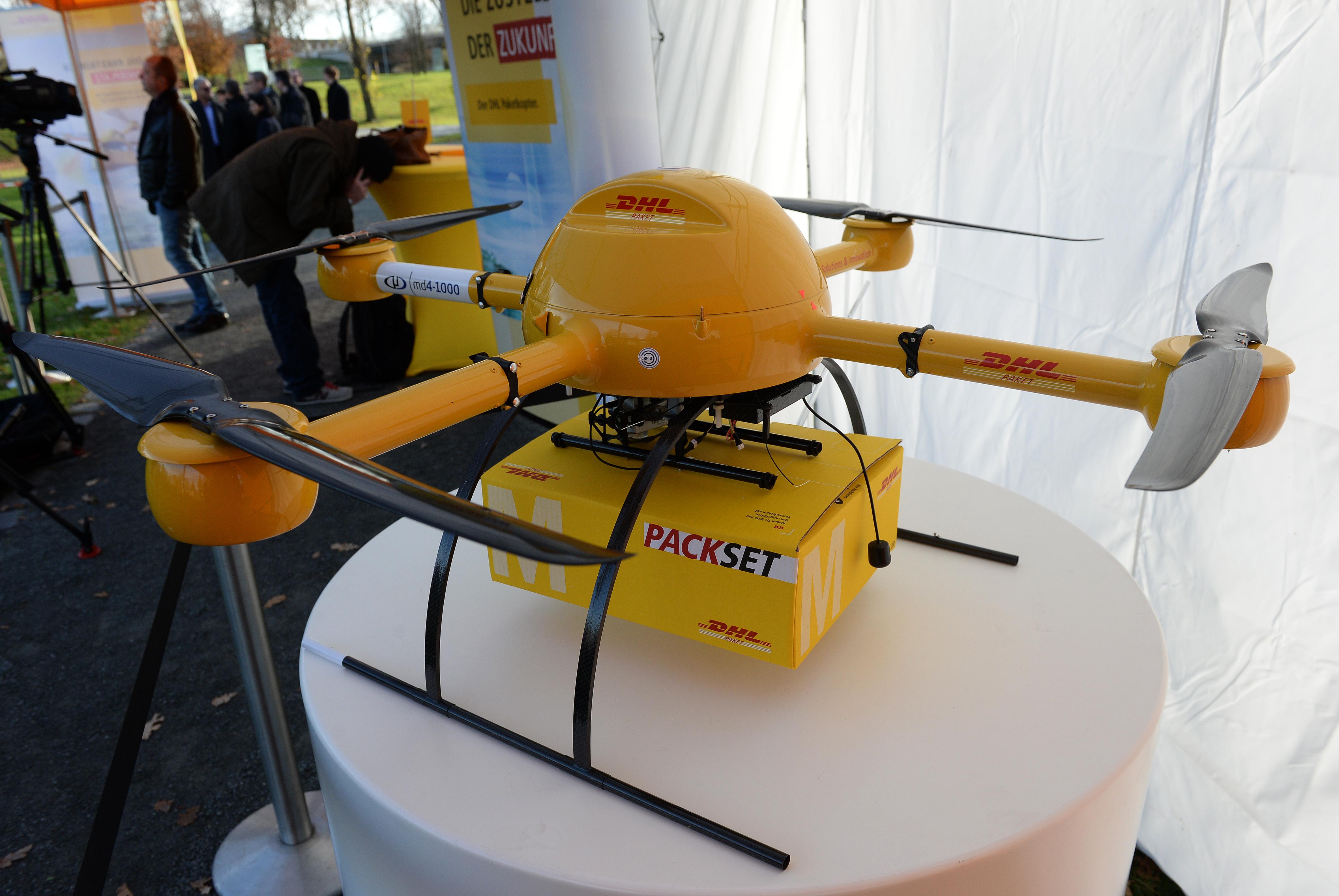 GERMANY-COMPANY-LOGISTICS-POST-DRONE