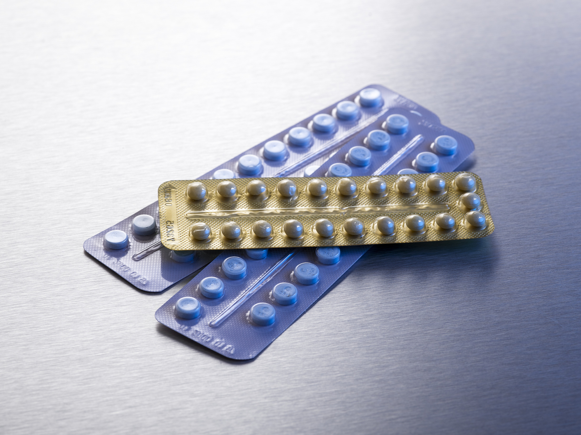 Contraceptive pills in blister packs