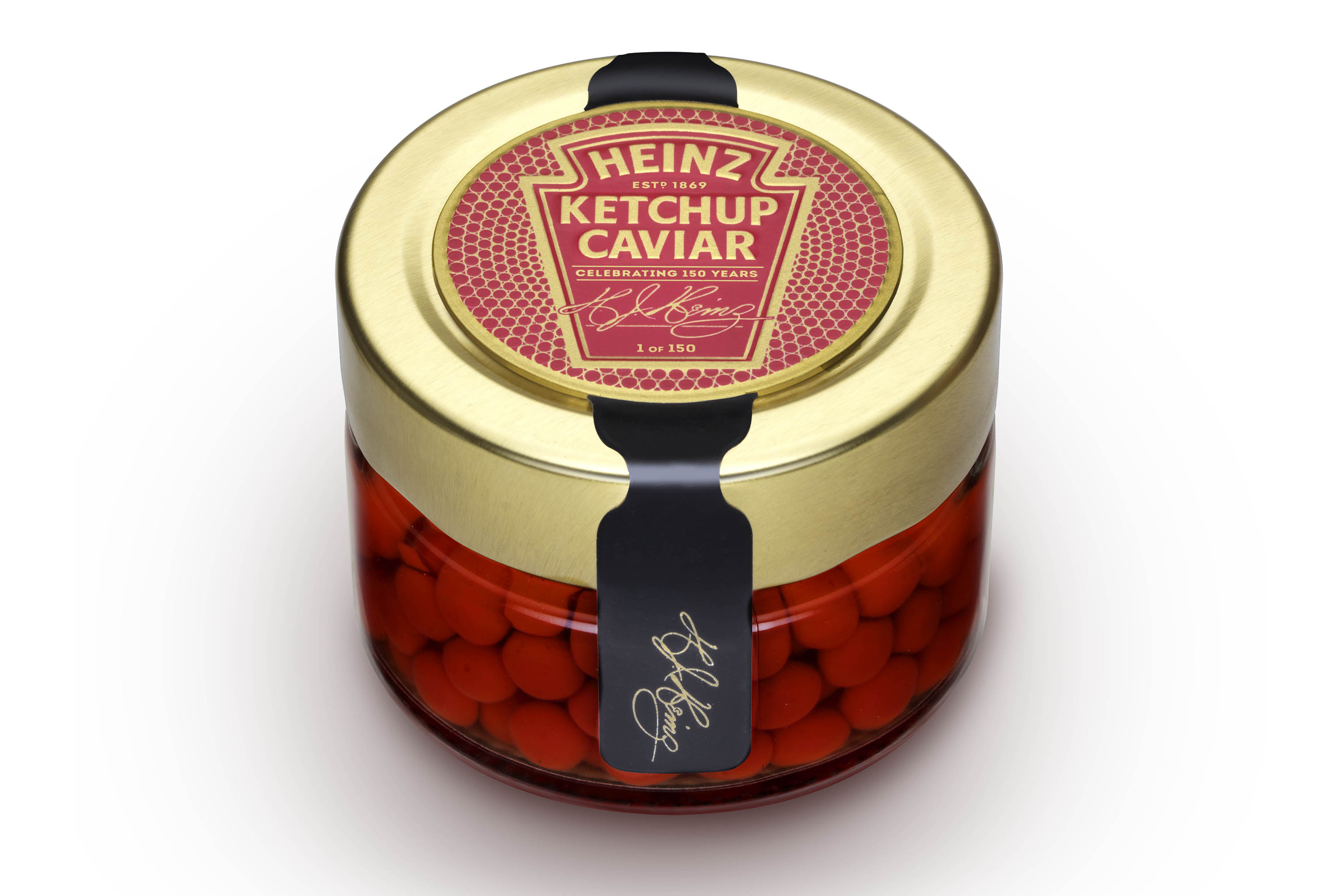 An 1.8 oz jar of Heinz Ketchup Caviar is valued at $5.