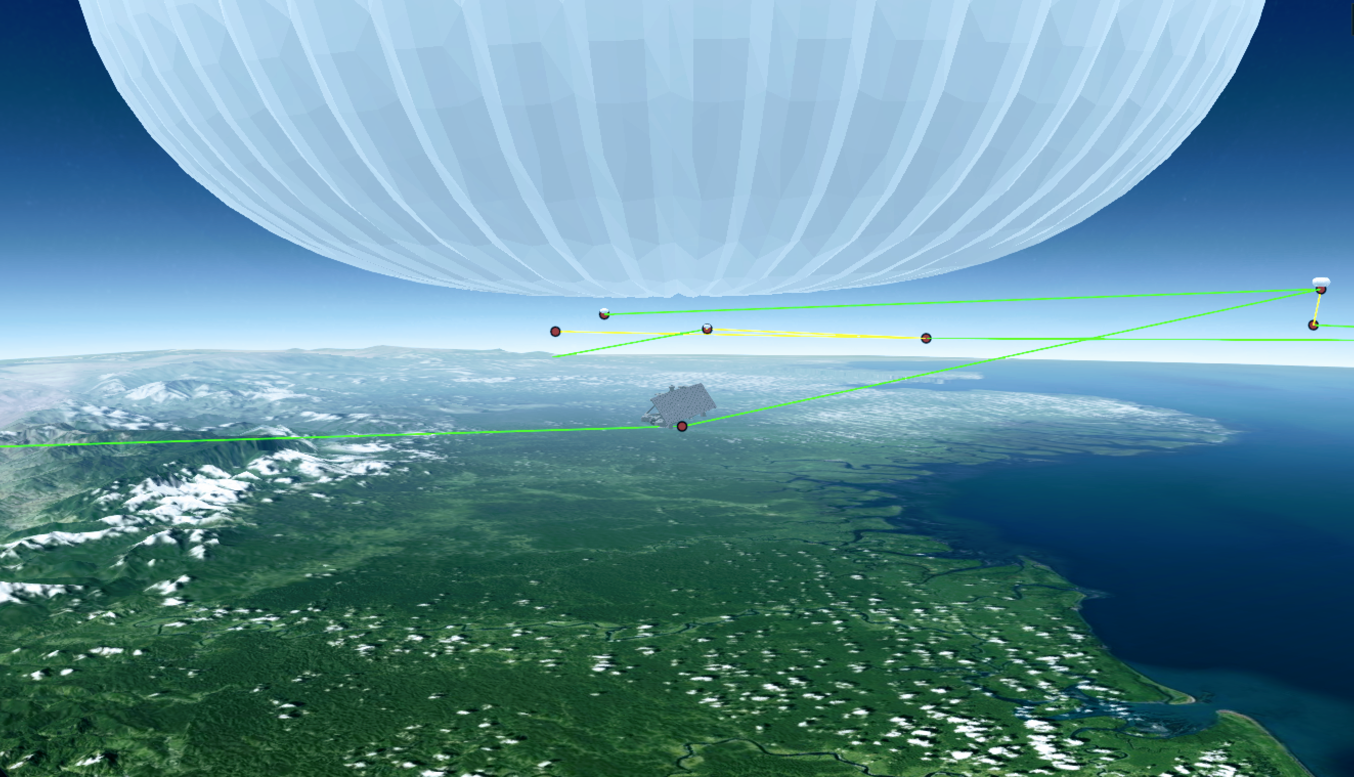 Google's loon balloon internet software system