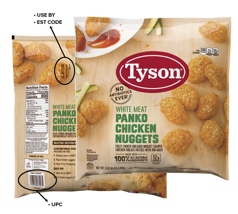 panko chicken nugget recall