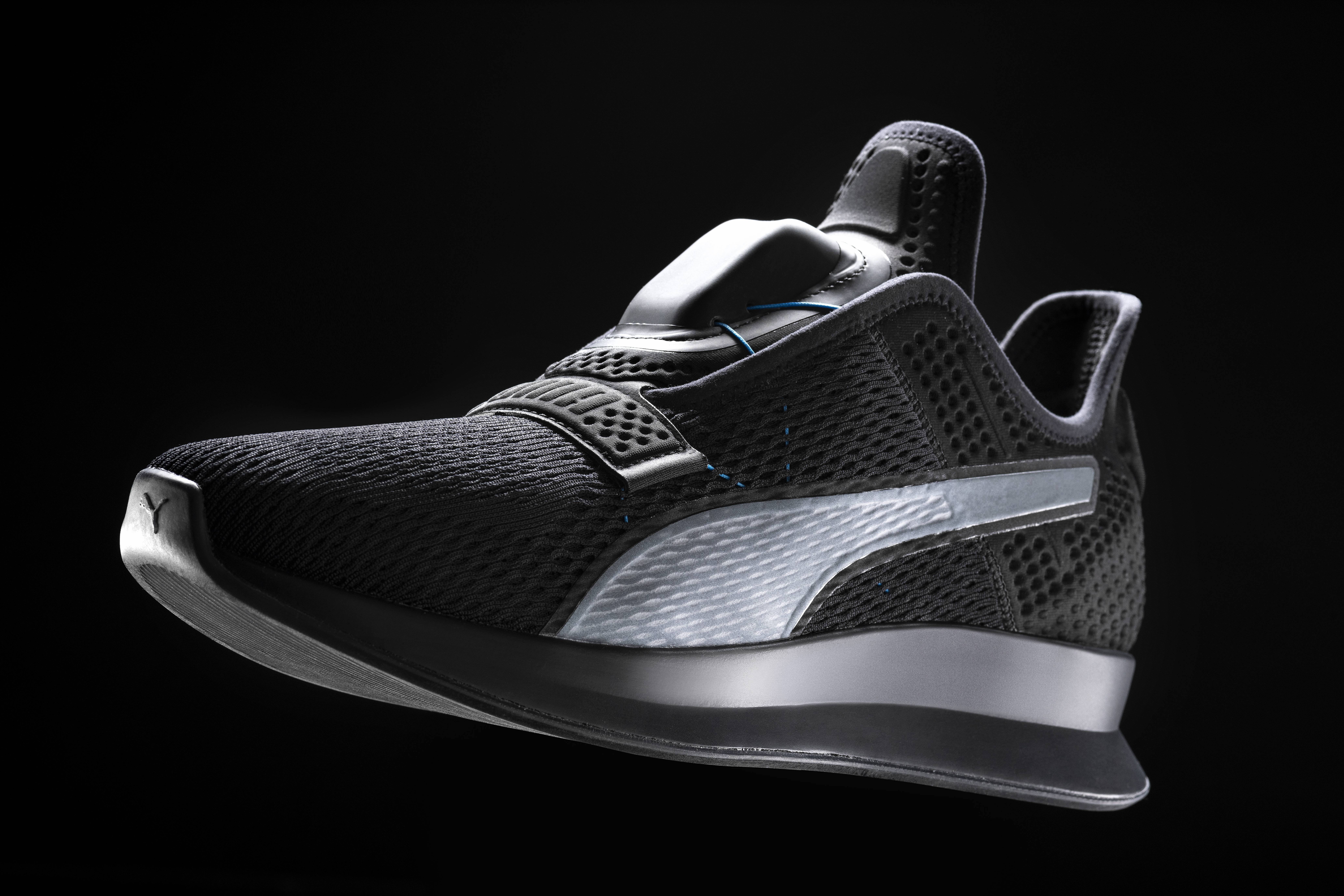 Puma unveiled its self-lacing sneaker, the Puma FI.