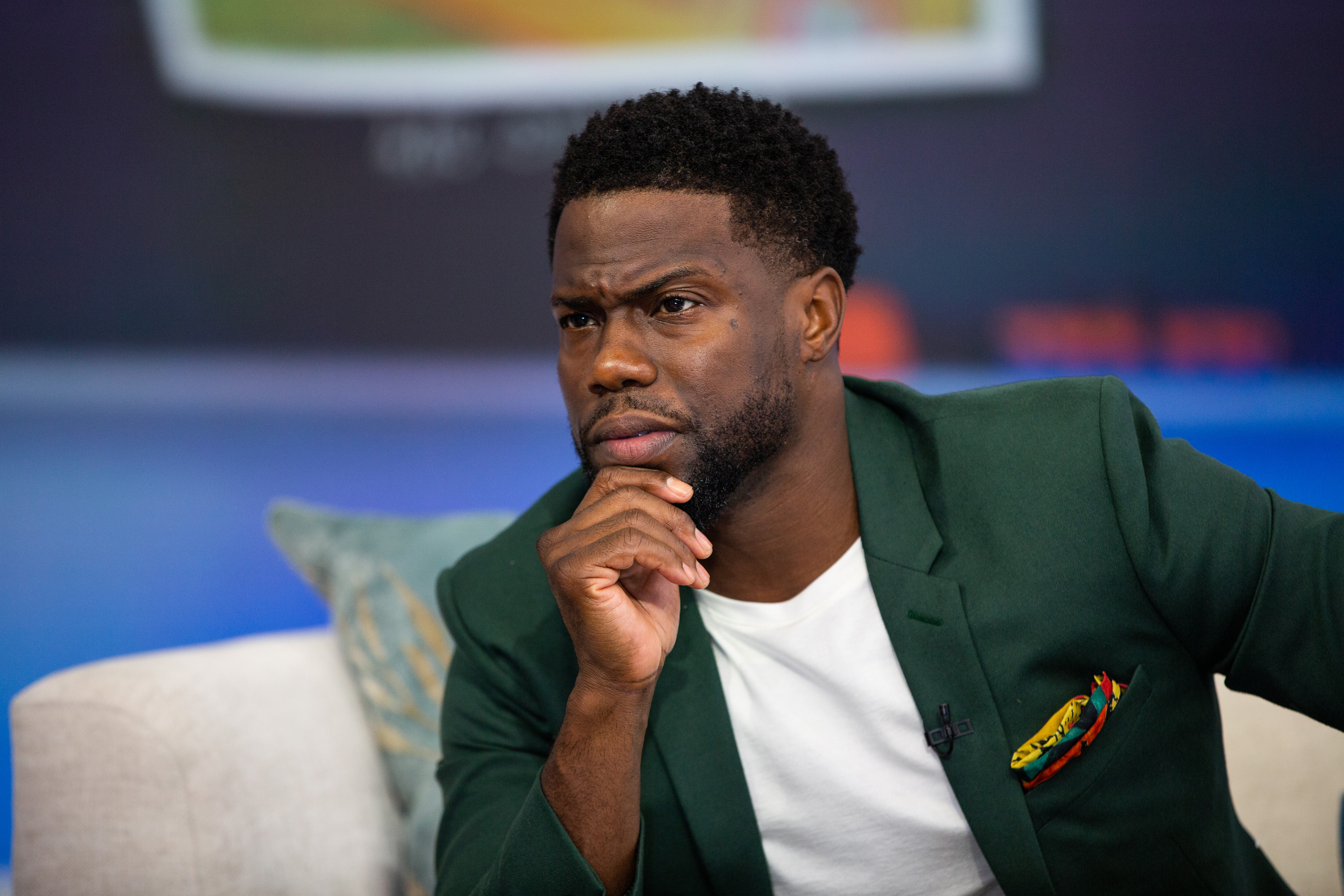 Kevin Hart pictured on The Today Show set on Thursday, September 27, 2018.