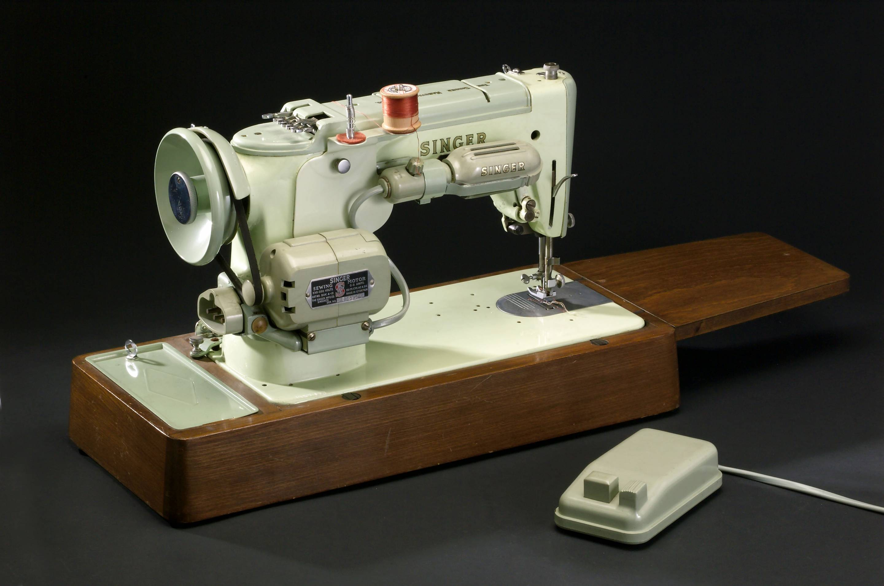 Isaac Merritt Singer designed the first practical lock-stitch sewing machine in Boston in 1850.