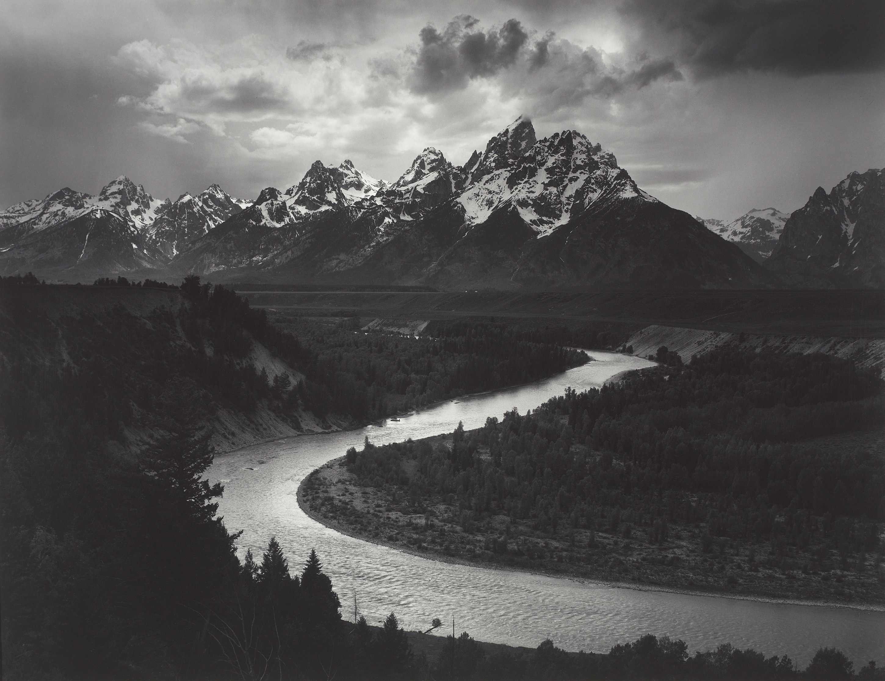 The Tetons and Snake River, Grand Teton National Park, Wyoming Ansel Adams (American, 1902–1984) 1942 Photograph, gelatin silver print *The Lane Collection *© The Ansel Adams Publishing Rights Trust *Courtesy, Museum of Fine Arts, Boston