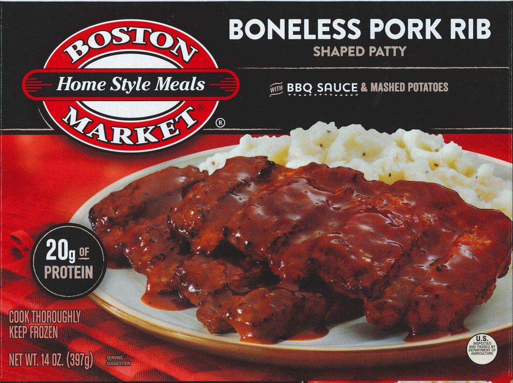 boston market frozen food recall