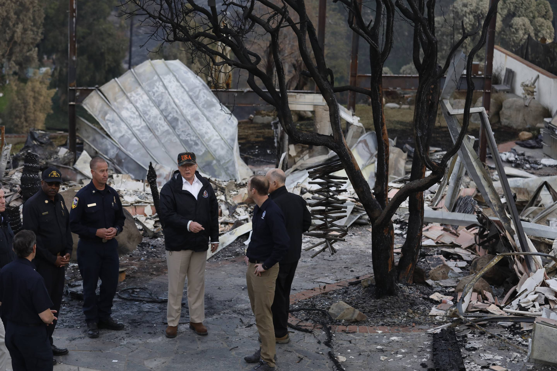 Trump Visits California Wildfires
