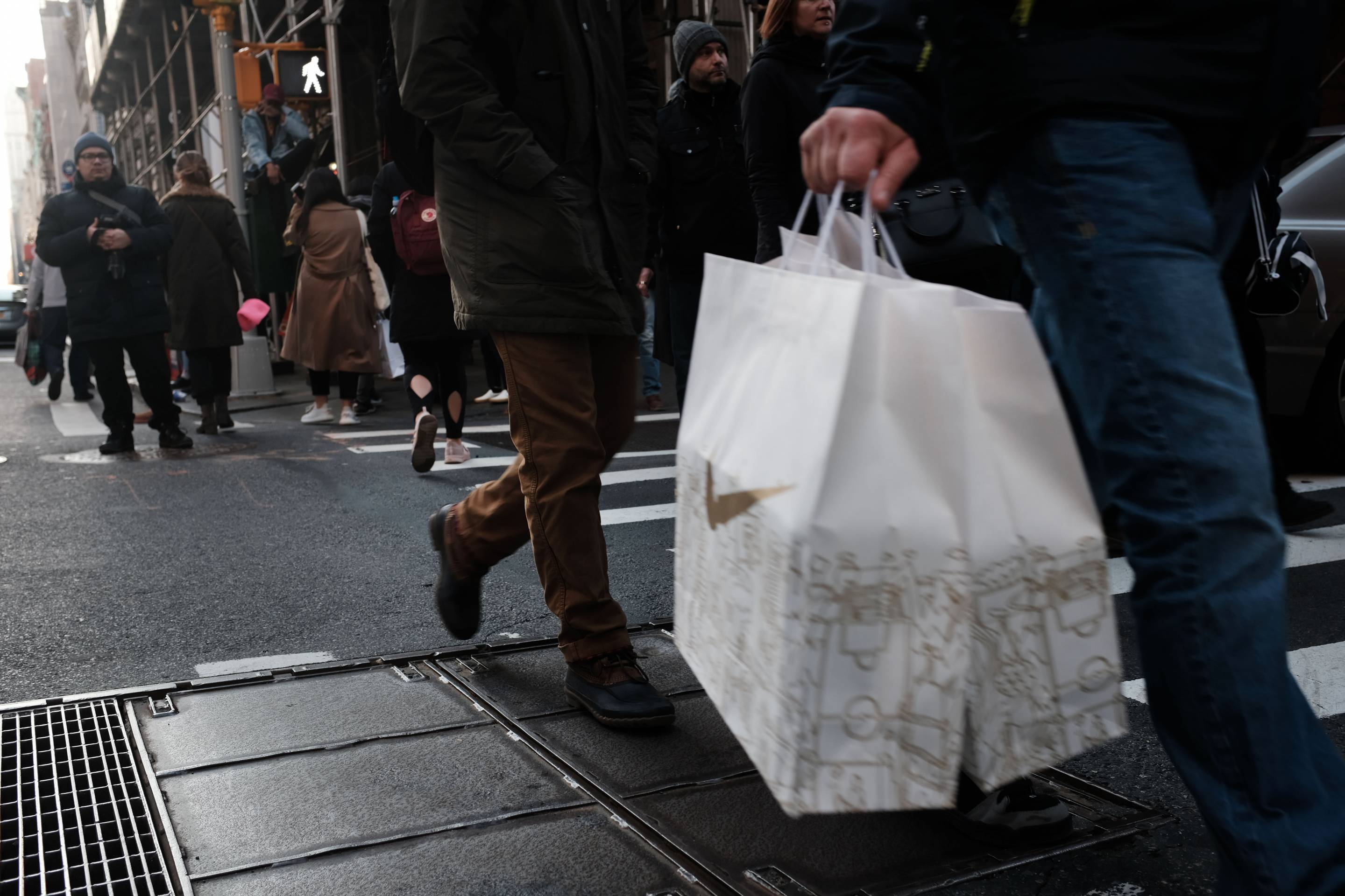 Last Minute Holiday Shoppers Hit The Stores in Manhattan
