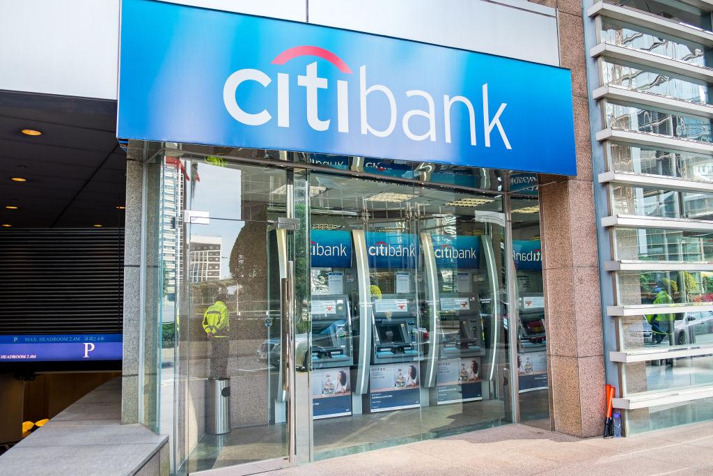 Citibank seen in Hong Kong