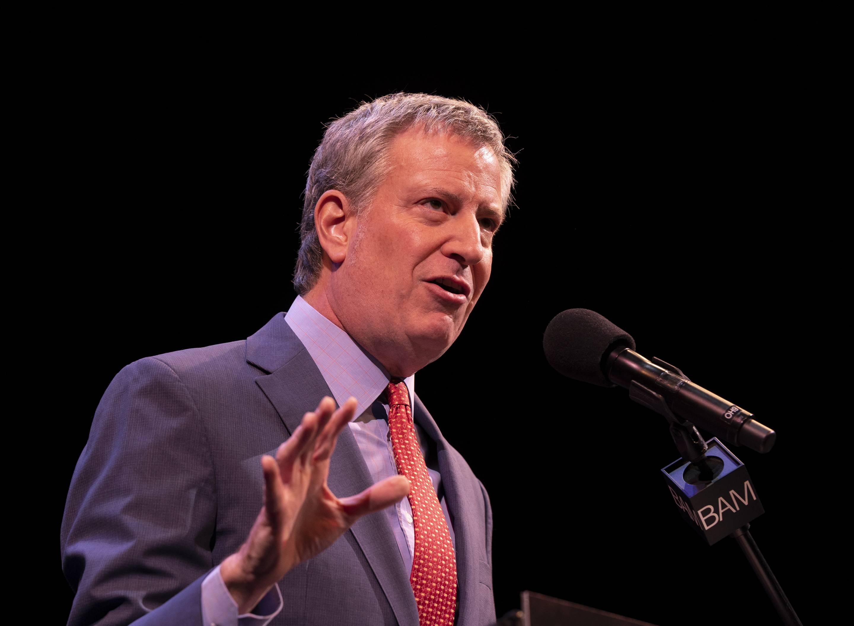 Mayor Bill de Blasio speaks during 33rd Brooklyn Tribute to