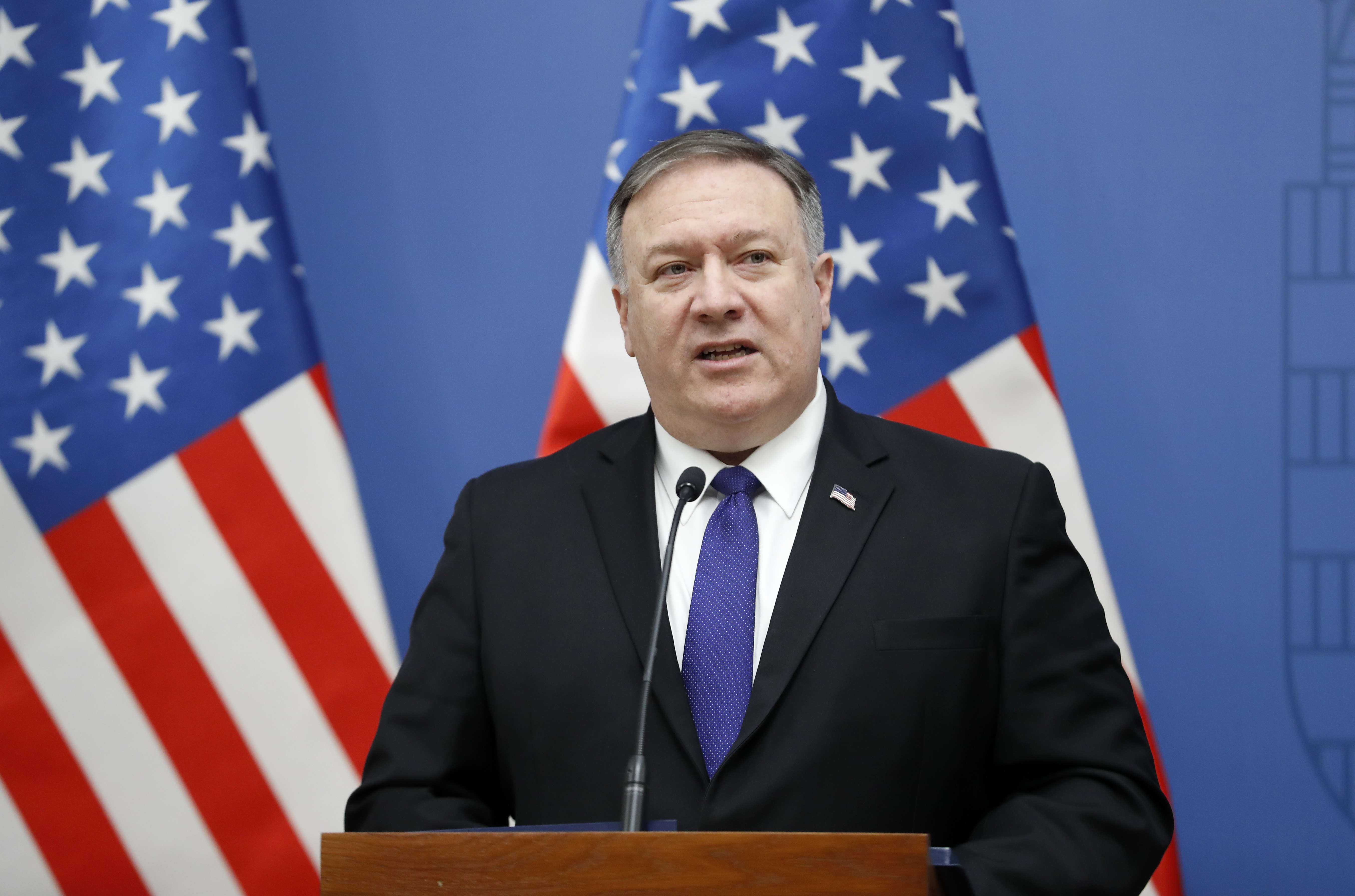 US Secretary Of State Mike Pompeo Visits Political Leaders In Hungary