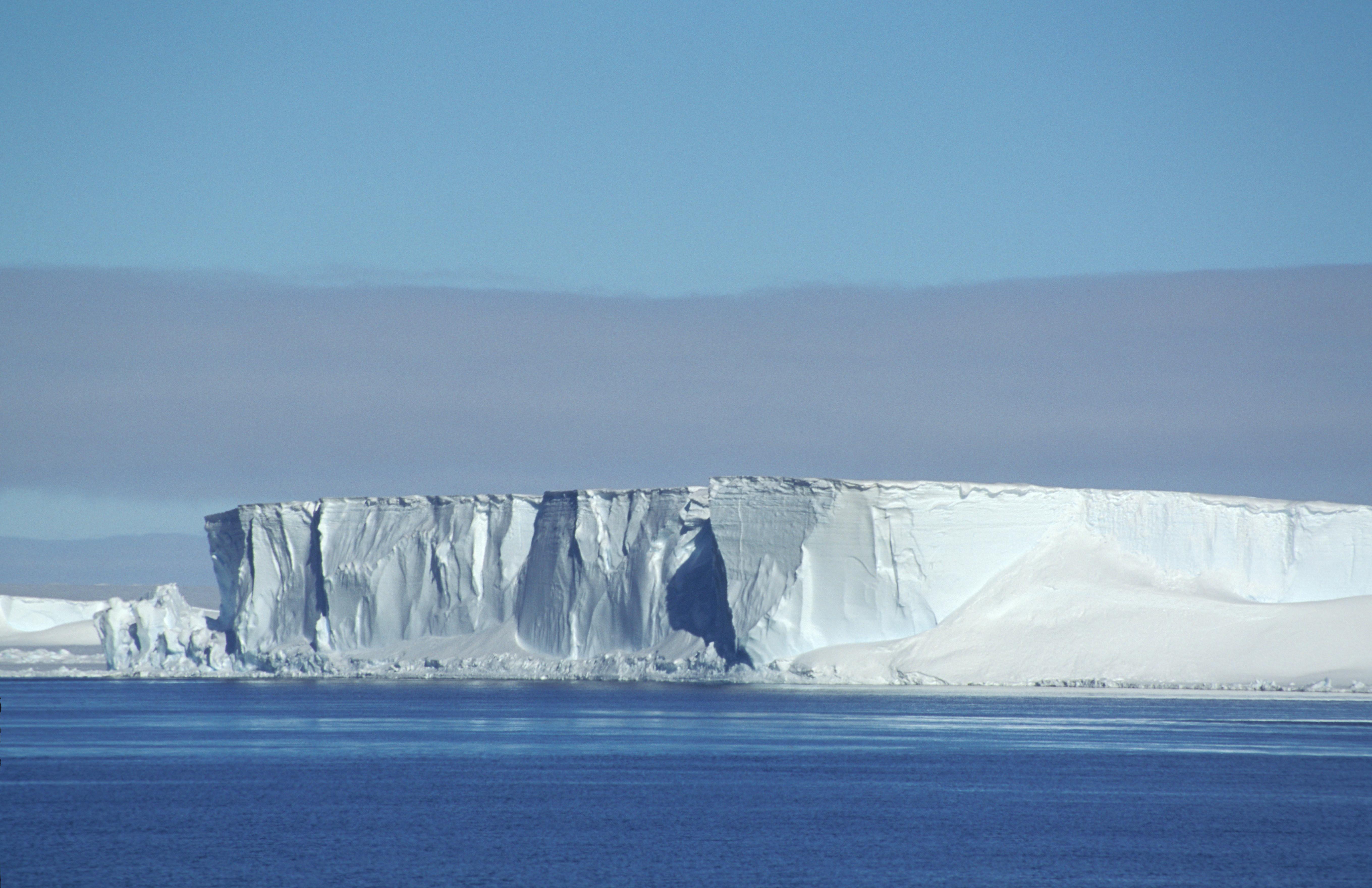 Ice headlands of Brunt Ice Shelf.