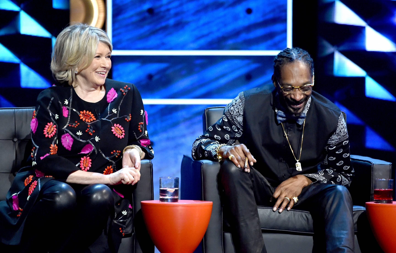 Martha Stewart with Snoop Dogg