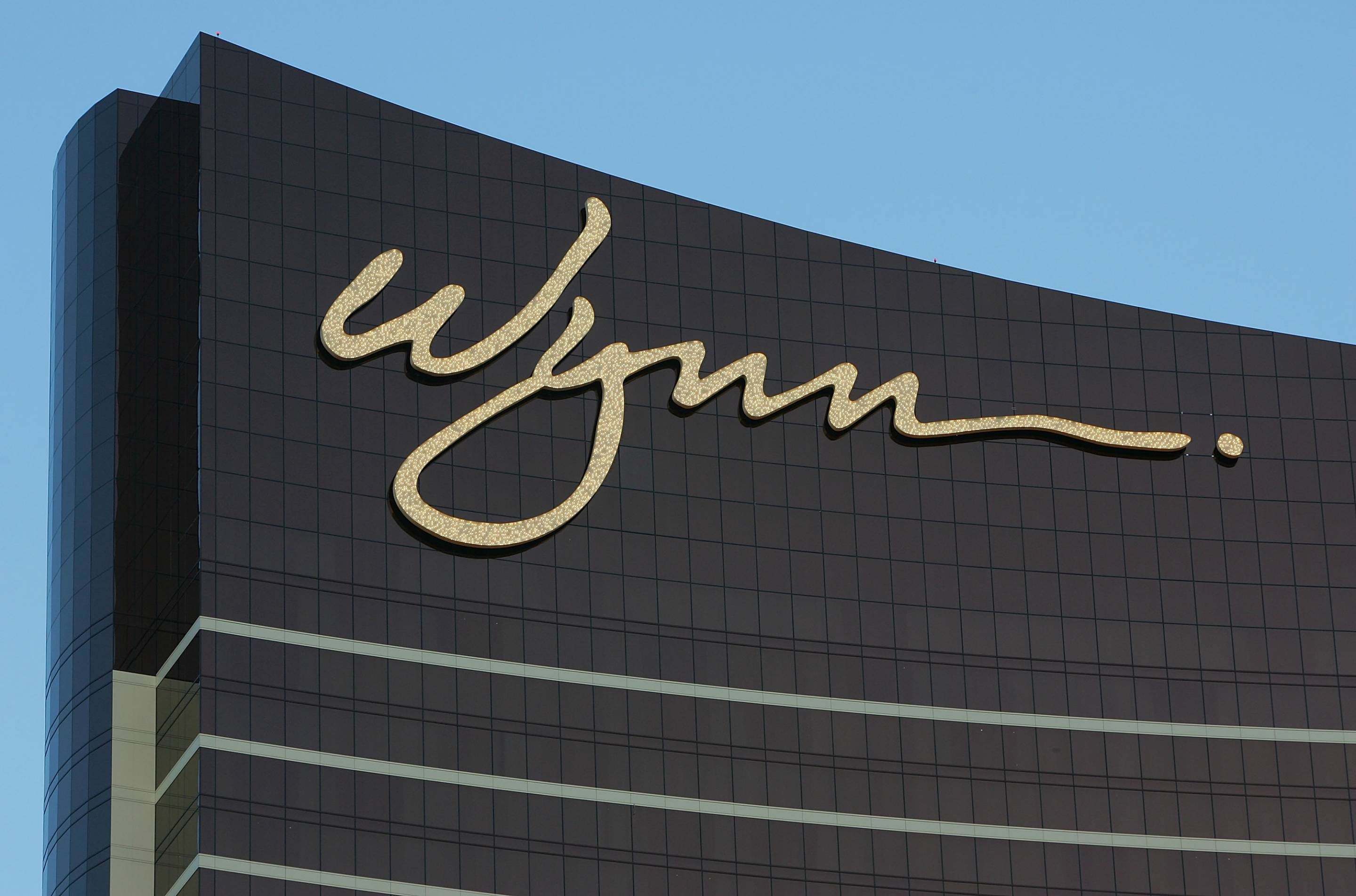 Exterior of Wynn Resorts building on Las Vegas Strip