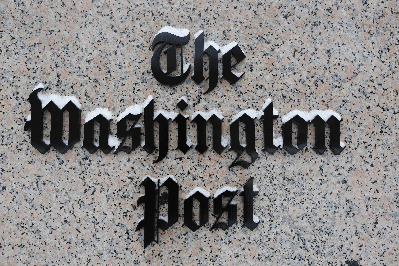 WASHINGTON,  DC - JANUARY 23: Washington Post logo outside of t