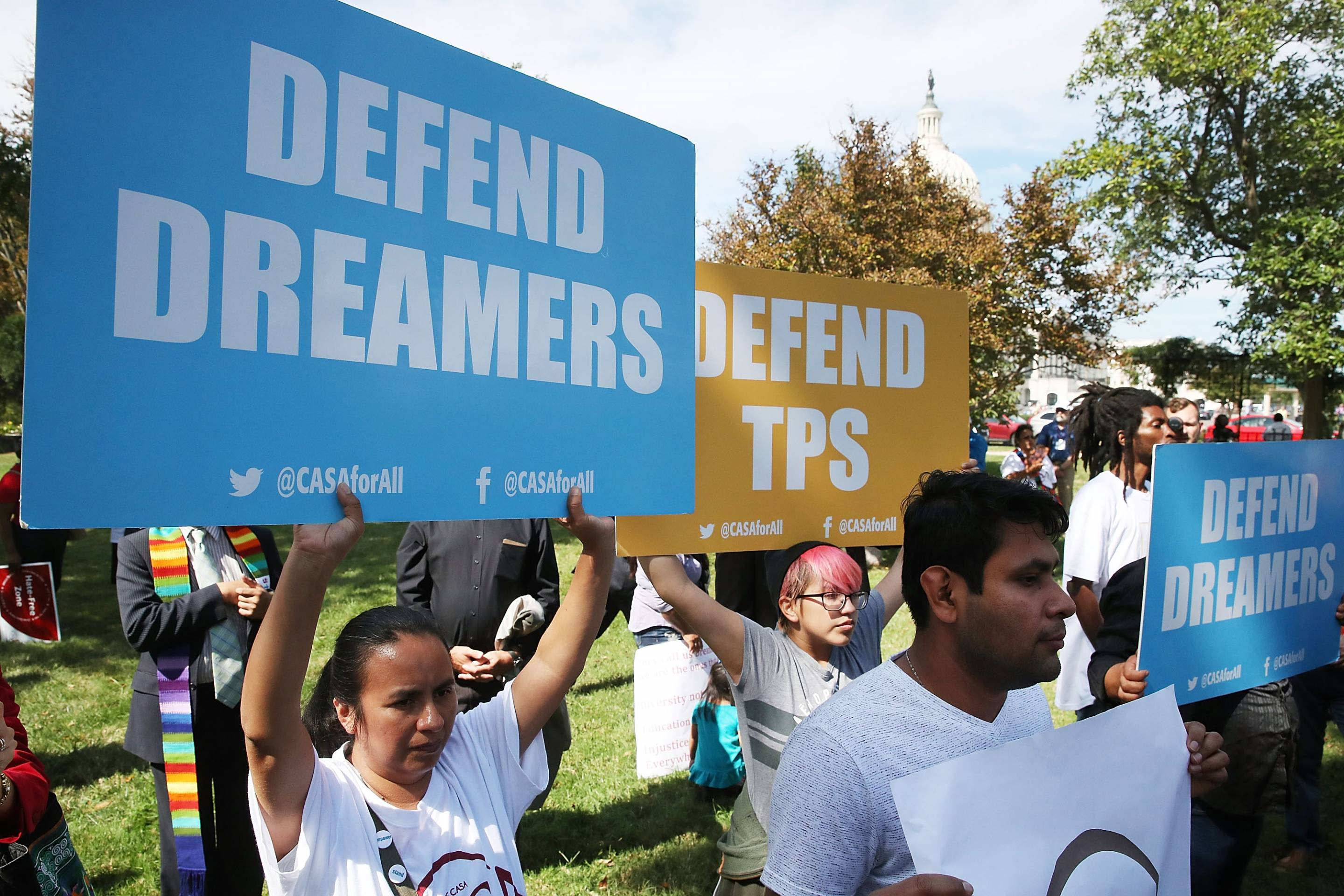 Activists Demonstrate Outside U.S. Capitol For Passage Of Clean Dream Act